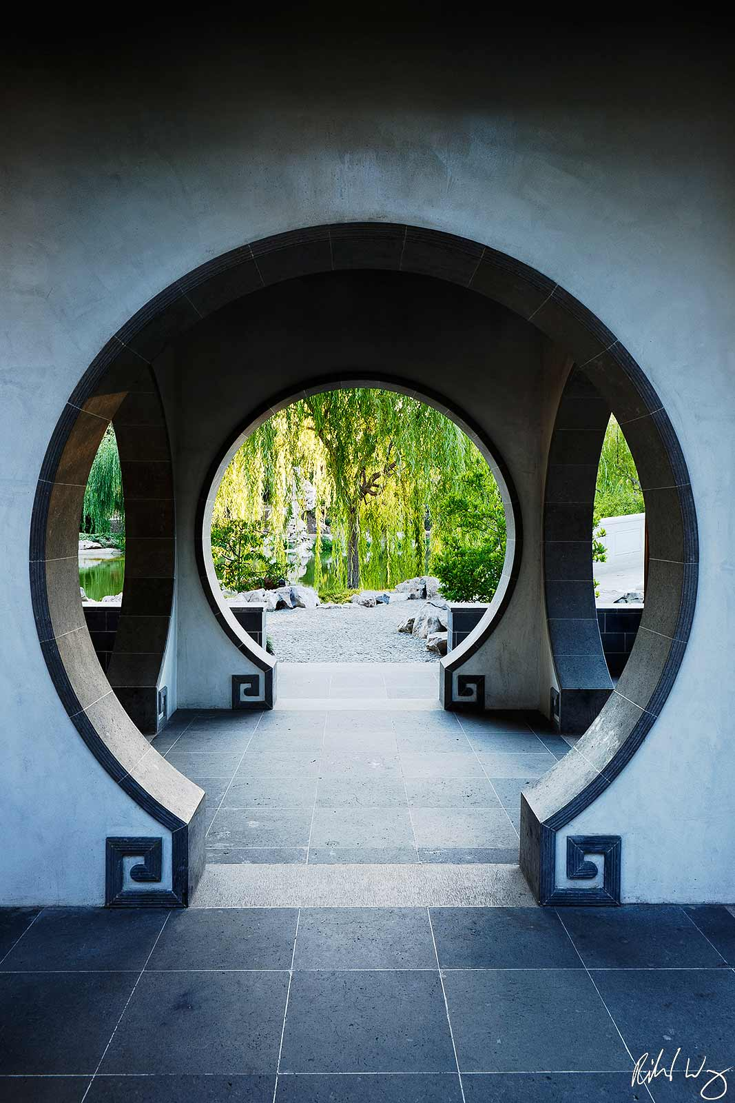 Terrace of the Jade Mirror in Chinese Garden at The Huntington, San Marino, California, Photo, photo