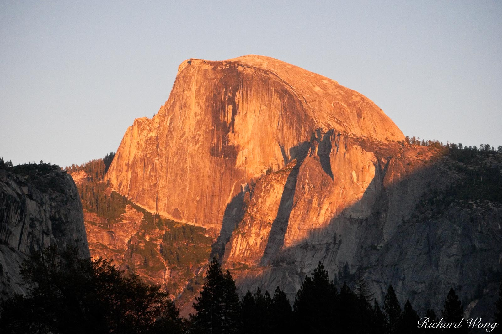 Half Dome Sunset from Cook's Meadow, Yosemite National Park, California, photo, photo