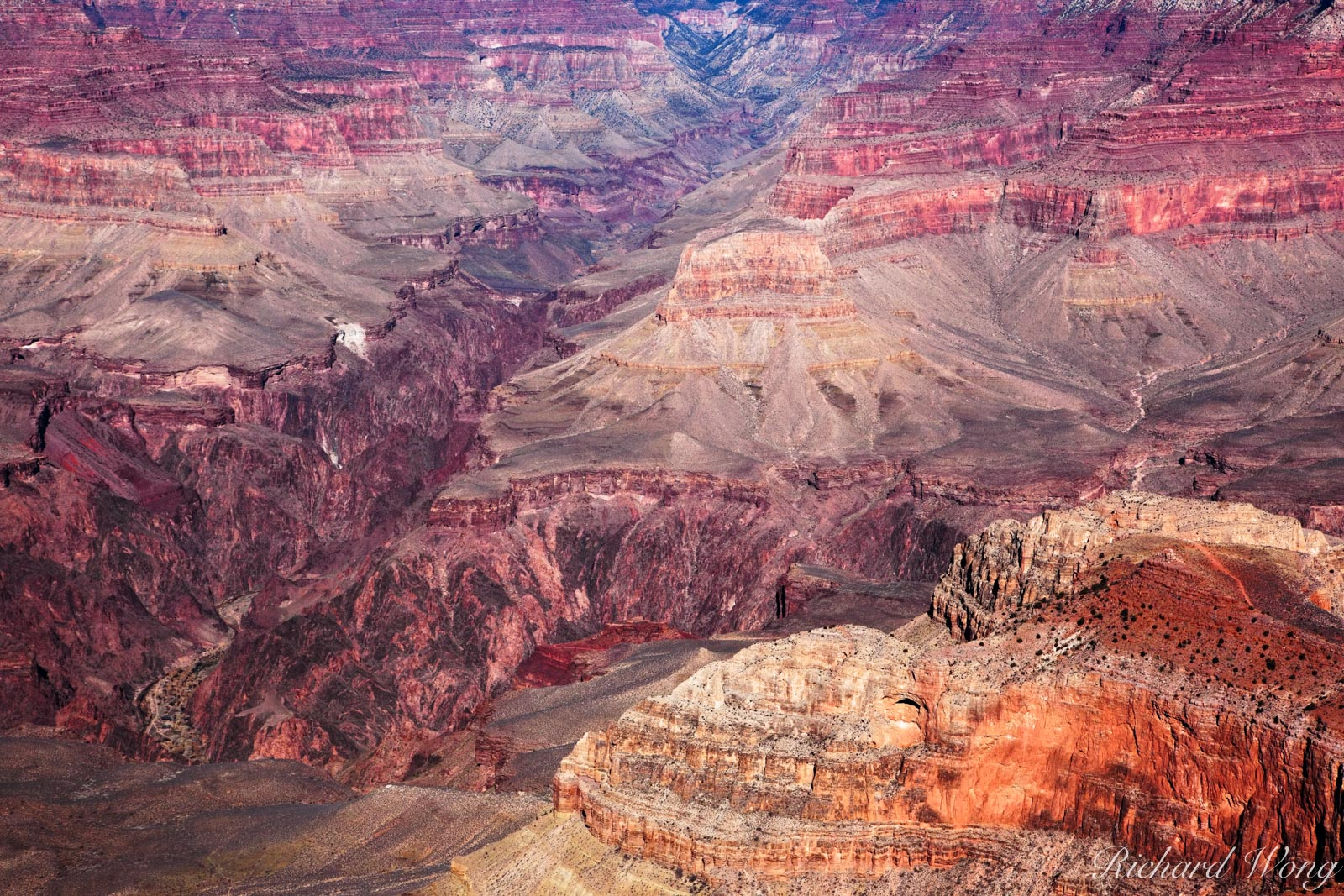 Looking Down into the Grand Canyon from Mather Point, Grand Canyon National Park, Arizona, photo, photo