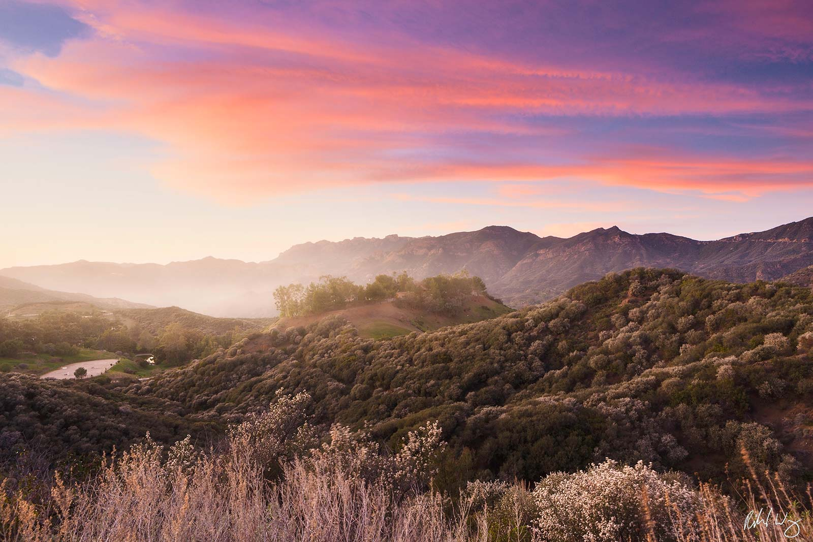 Sunset, Santa Monica Mountains National Recreation Area, California, photo, photo