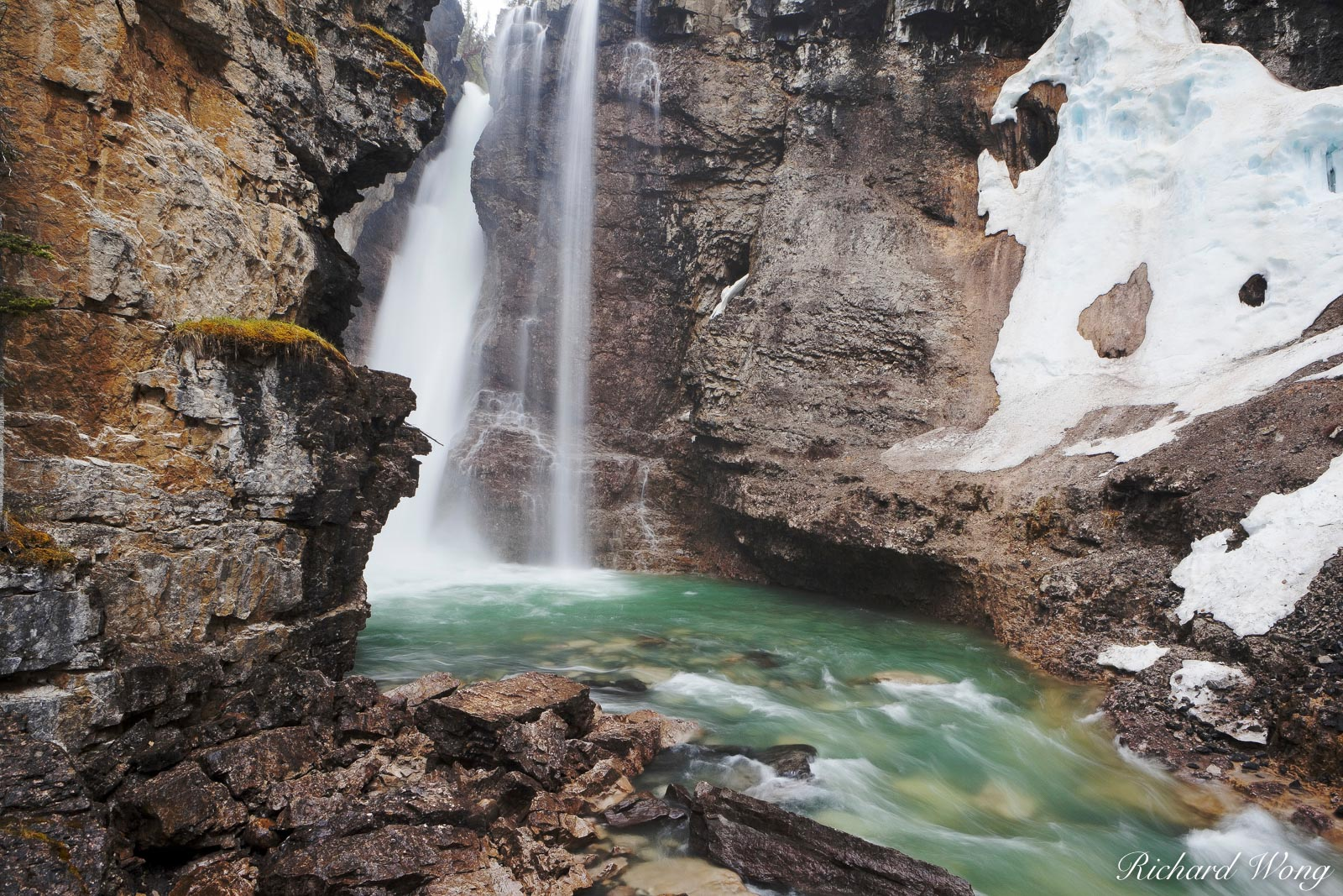 Upper Johnston Canyon Falls, Banff National Park, Alberta, Canada, photo, photo