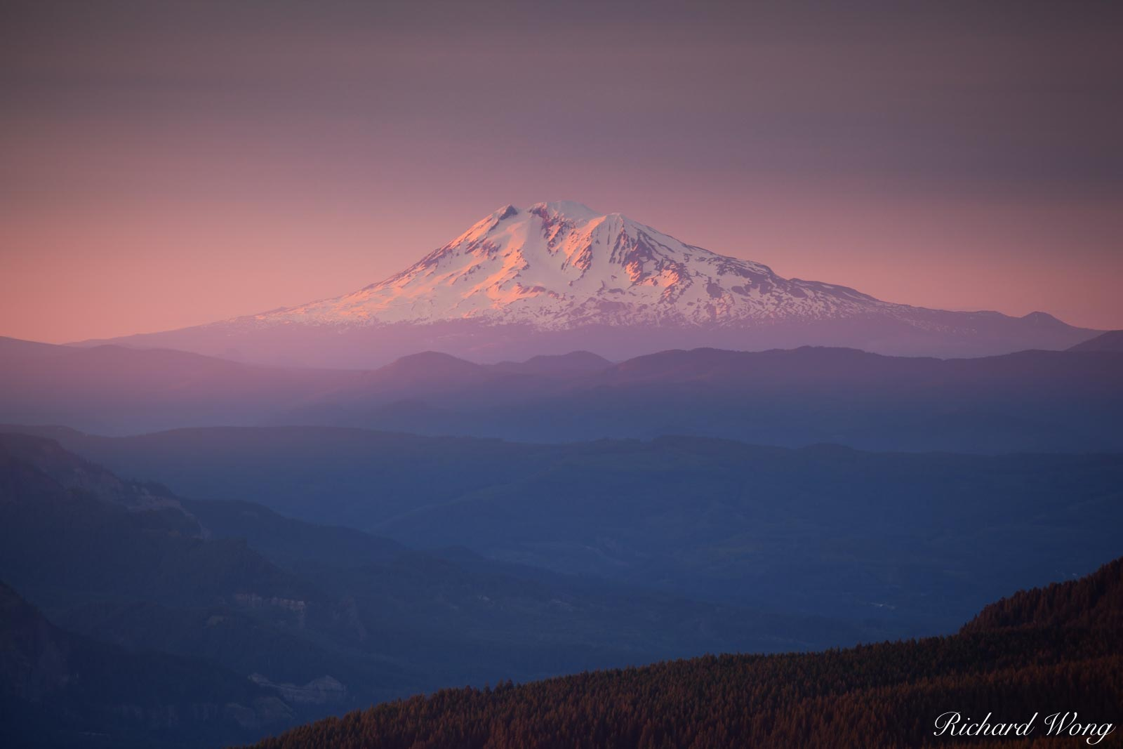 Mount Adams at Sunset, Mount Hood National Forest, Oregon, photo, photo