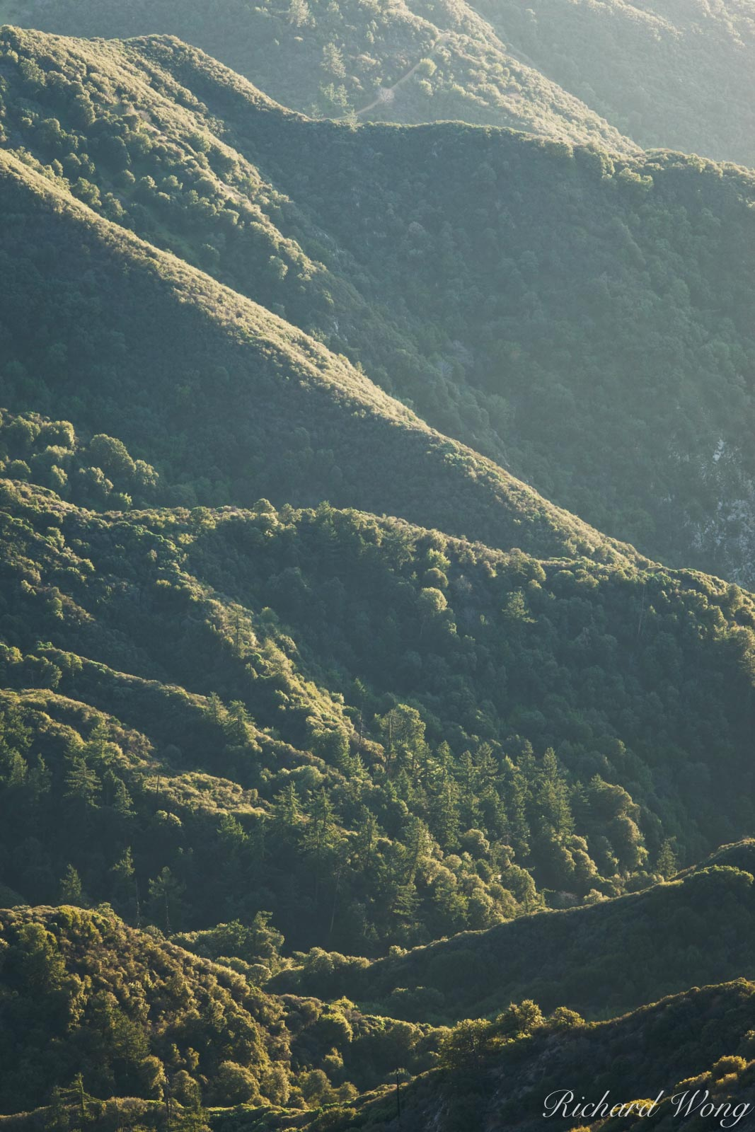 Transpression Ridges in San Gabriel Mountains, Angeles National Forest, California, photo, photo