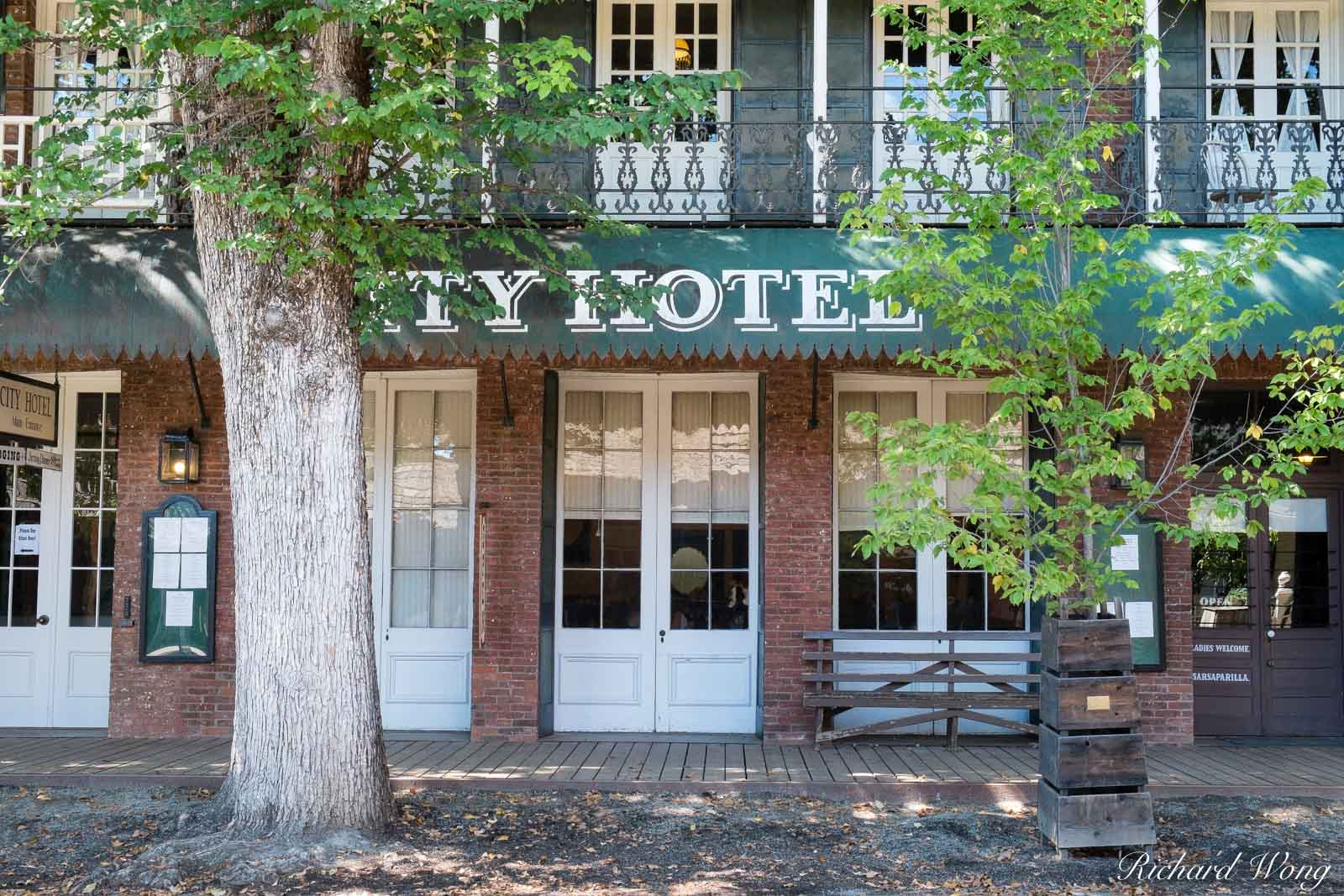 City Hotel at Columbia State Historic Park, Columbia, California Dating back to 1856, City Hotel is a restored 19th century country...
