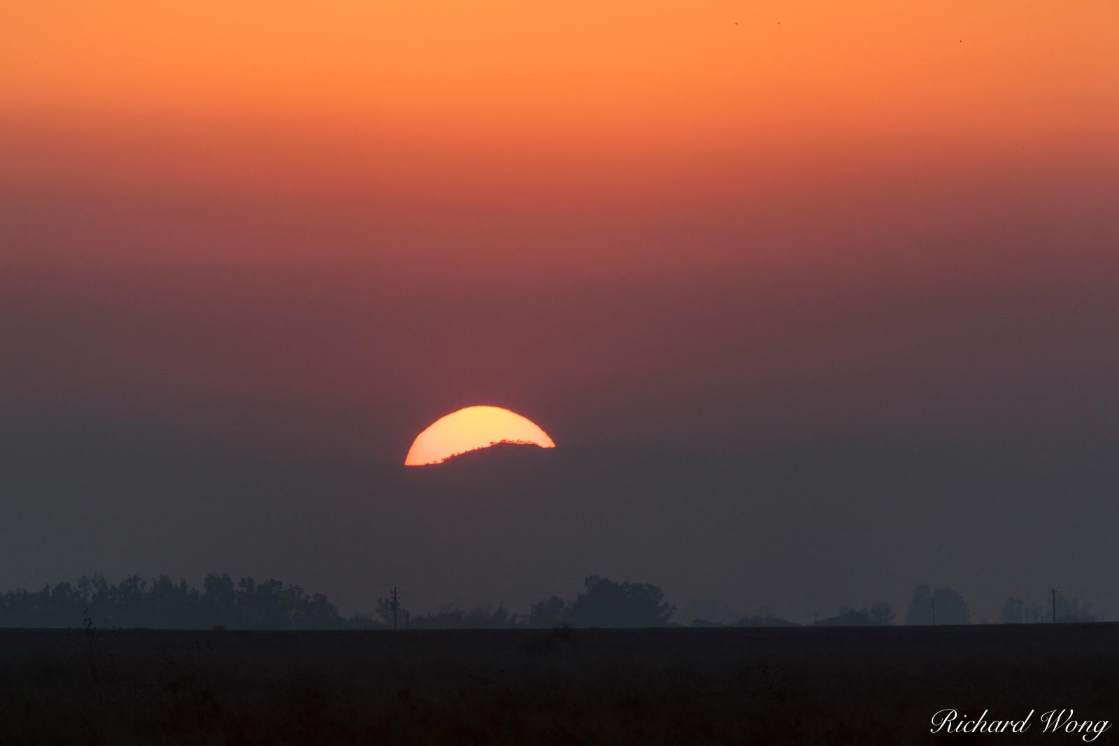 Sunset in the Central Valley, Merced National Wildlife Refuge, California, photo, photo
