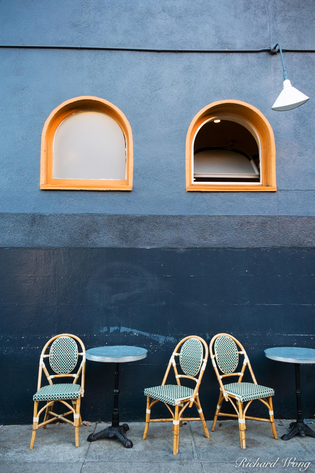 French Bakery Chairs and Tables on Sidewalk in Hayes Valley, San Francisco, California