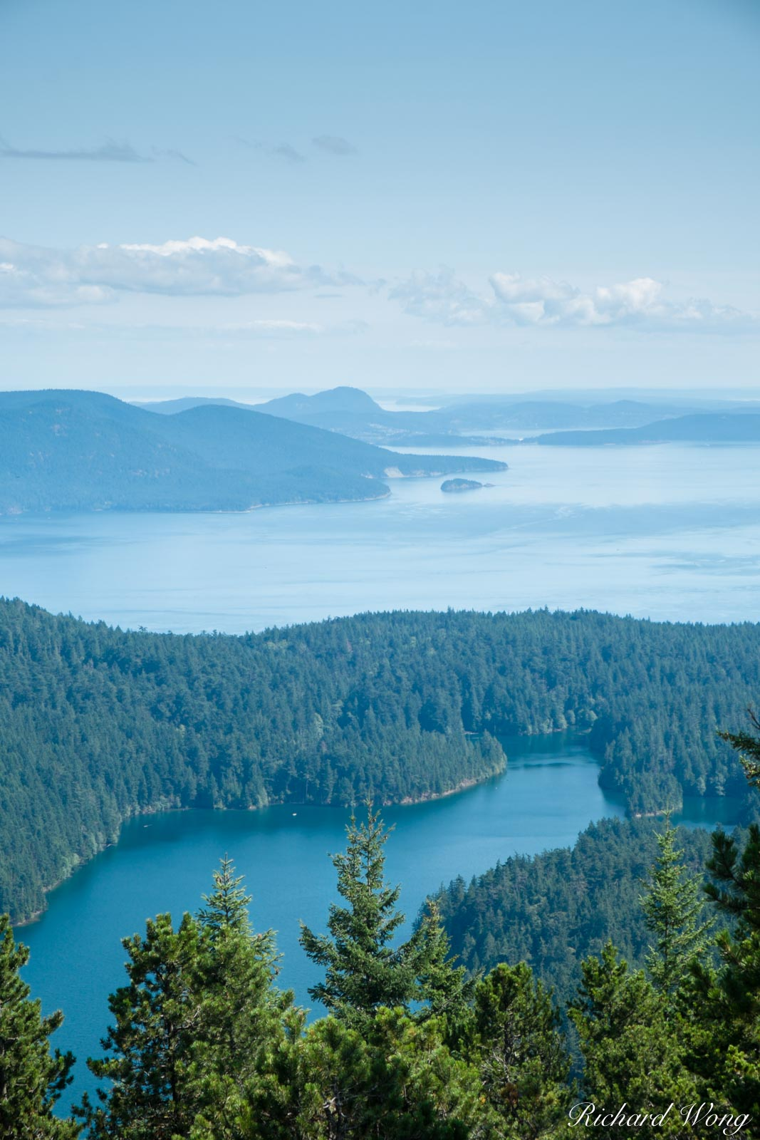 View from Mount Constitution, Orcas Island, Washington, photo, photo