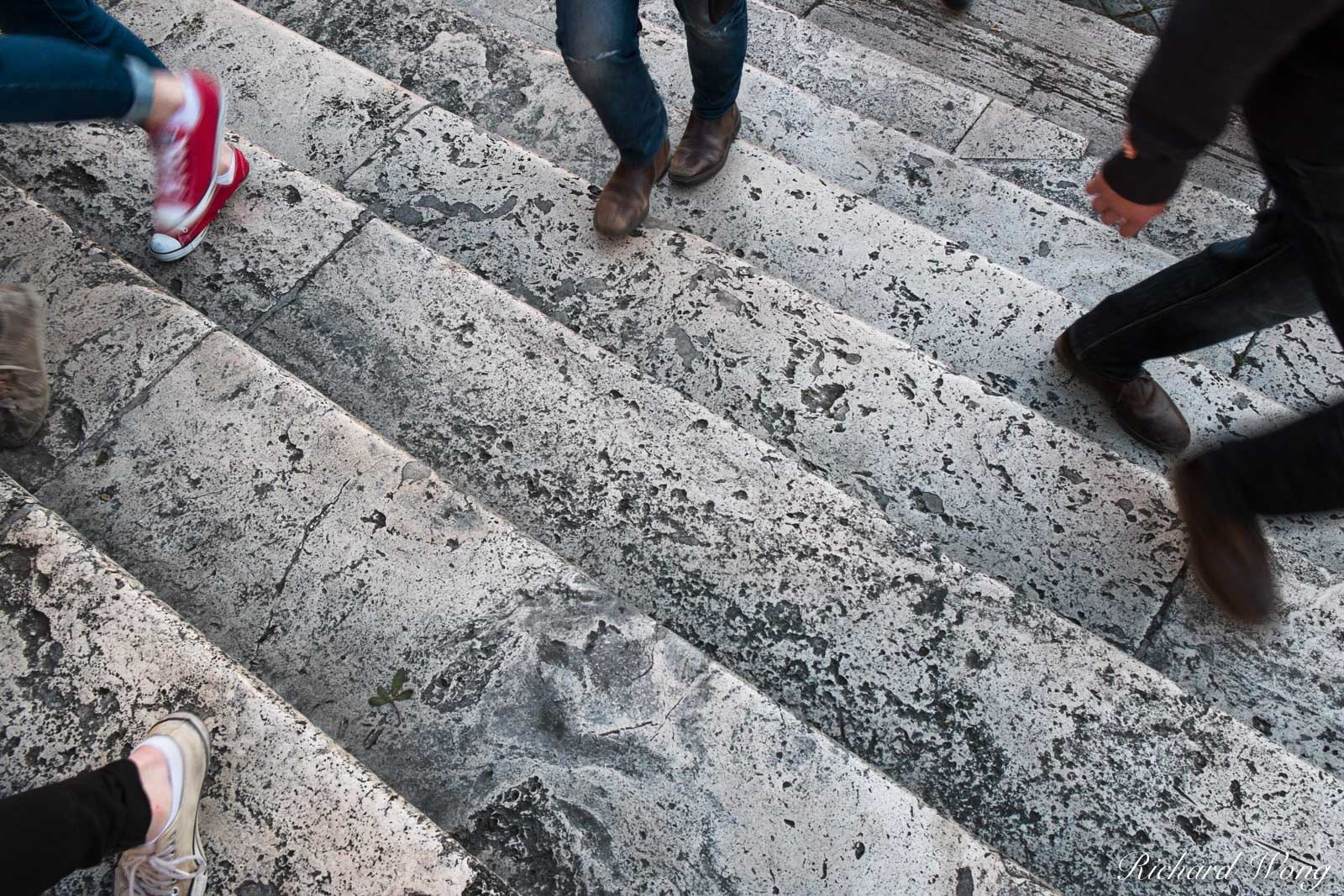 People Walking The Spanish Steps, Rome, Italy, photo, photo