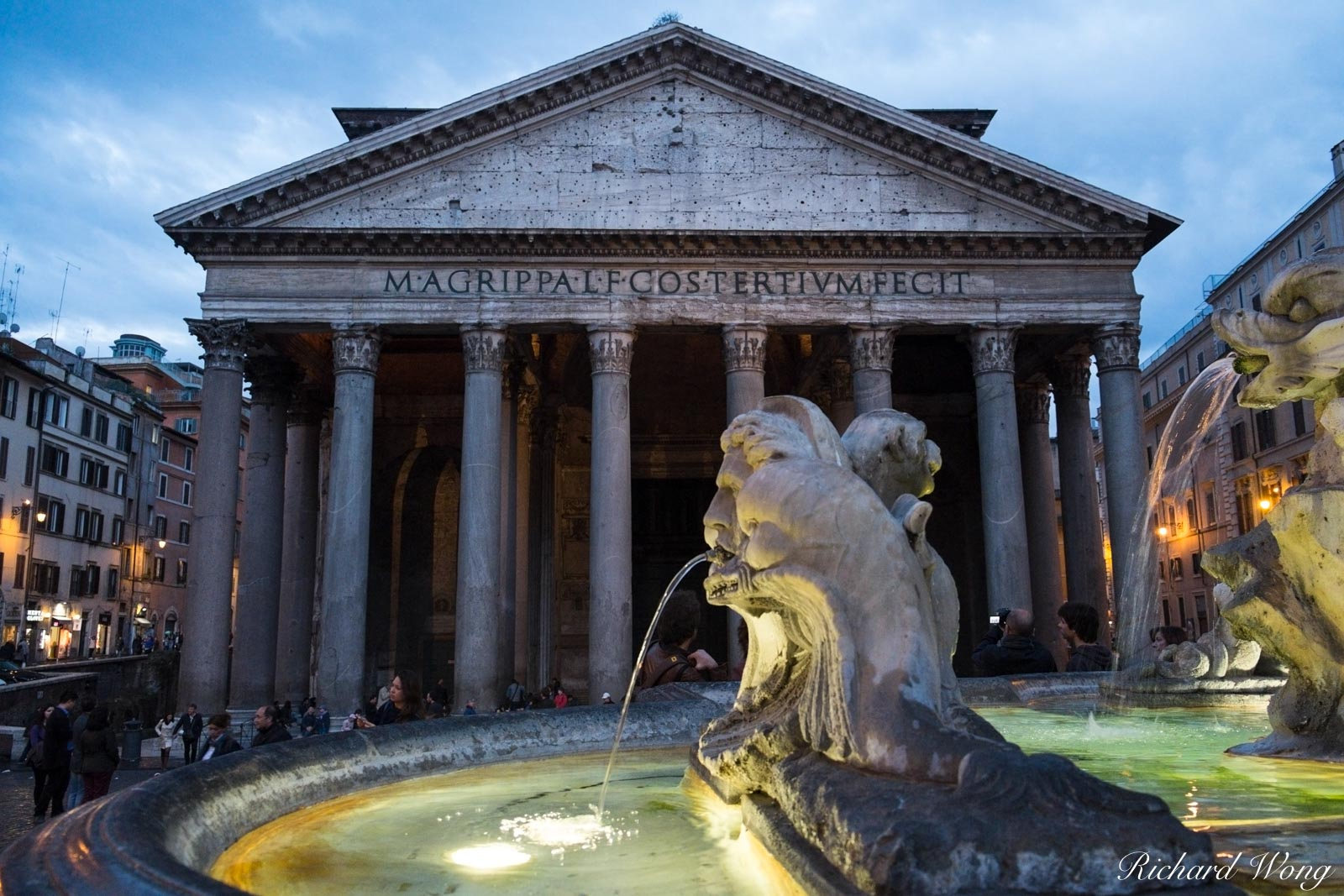 Fontana del Pantheon at Piazza della Rotonda, Rome, Italy, photo, photo