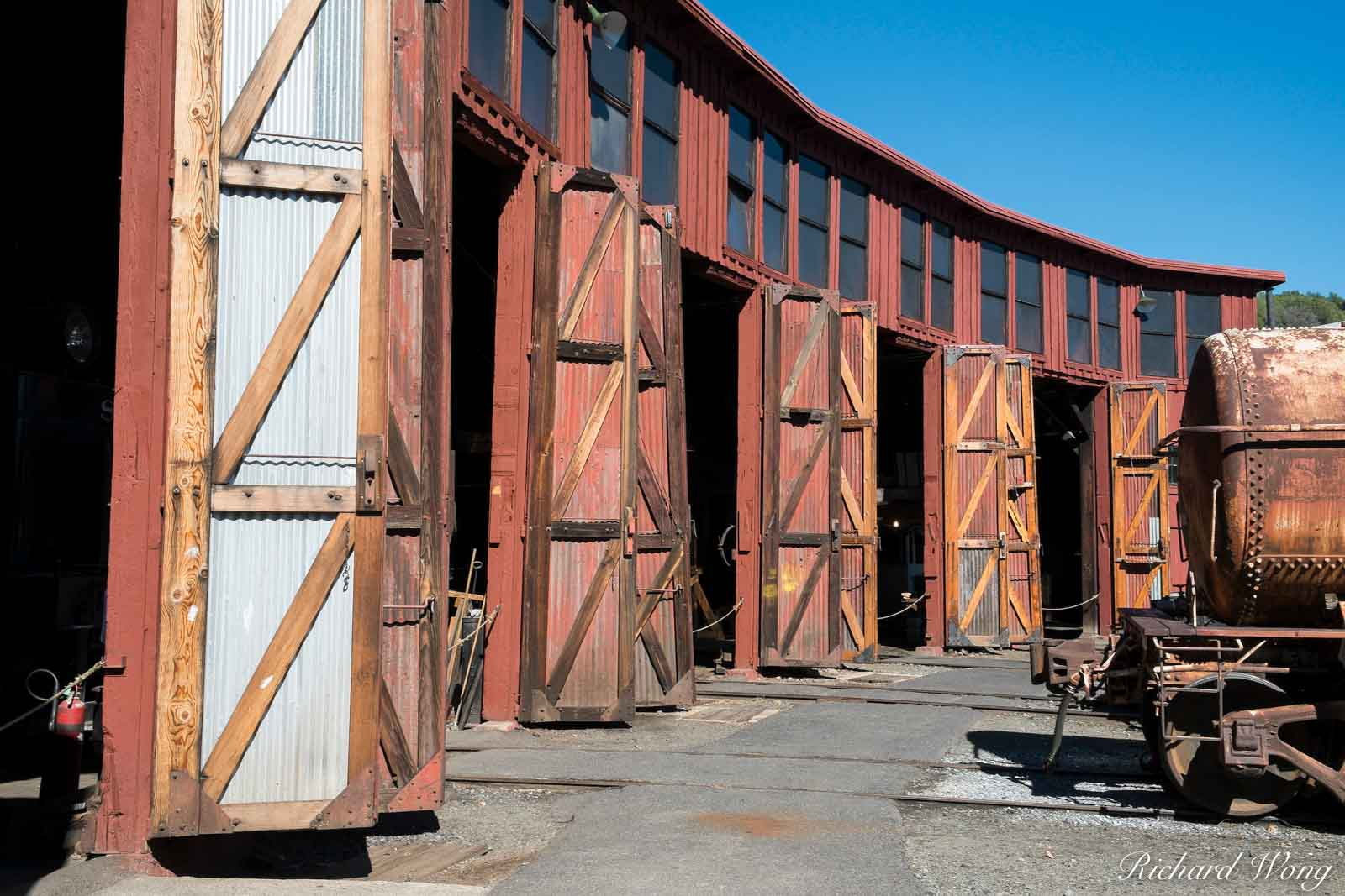 Railtown 1897 State Historic Park Trainyard, Jamestown, California, photo, photo