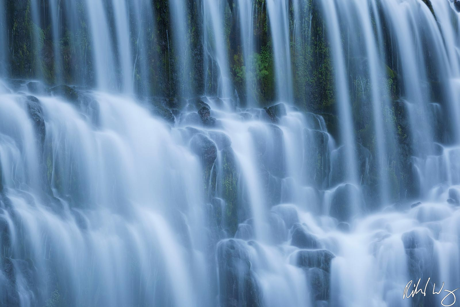 peter lik tranquility style photo, middle mccloud river falls, shasta-trinity national forest, california, photo, photo