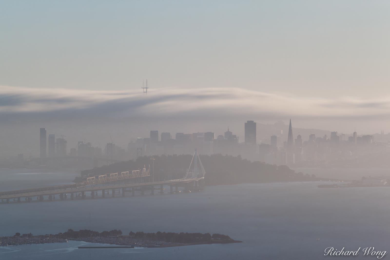 Long Exposure of Fog Rolling Over San Francisco, California, photo, photo