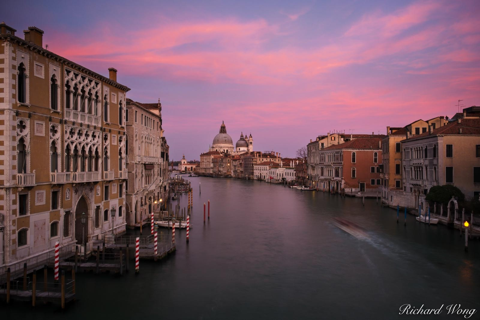 The Grand Canal at Sunset From Accademia Bridge, Venice, Italy, photo, photo