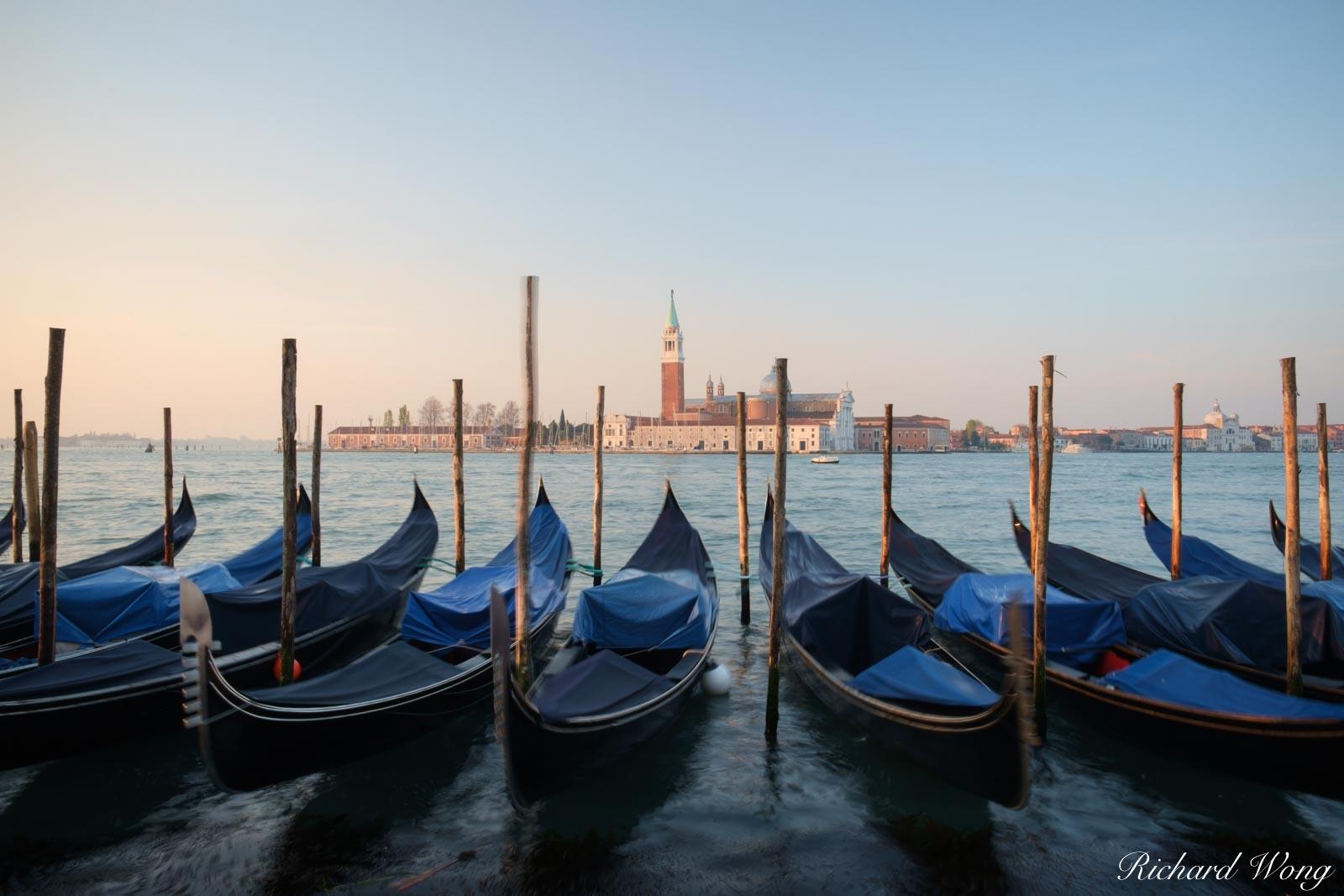 Servizio Gondole Sunrise at Piazza San Marco, Venice, Italy, photo, photo