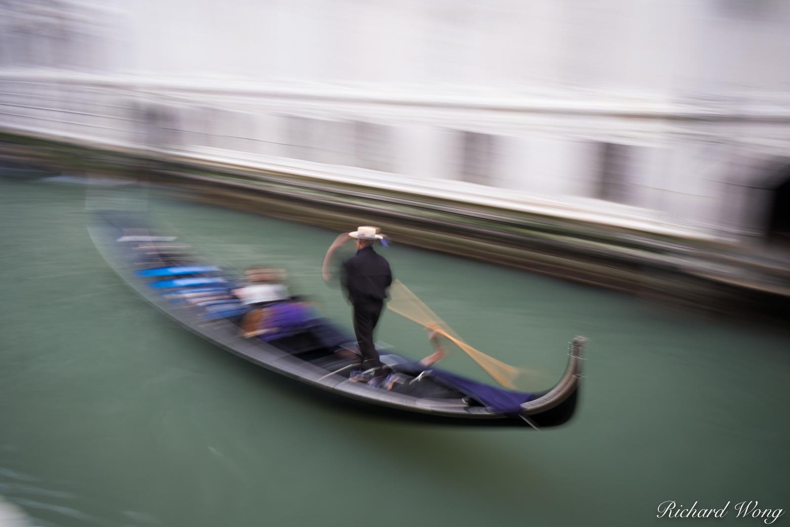 Gondola Ride Motion Blur, Venice, Italy