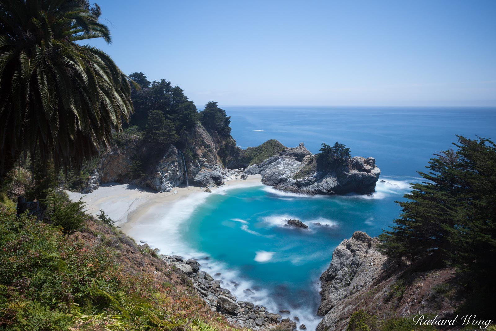 McWay Falls Scenic Overlook, Julia Pfeiffer Burns State Park, California, photo, photo