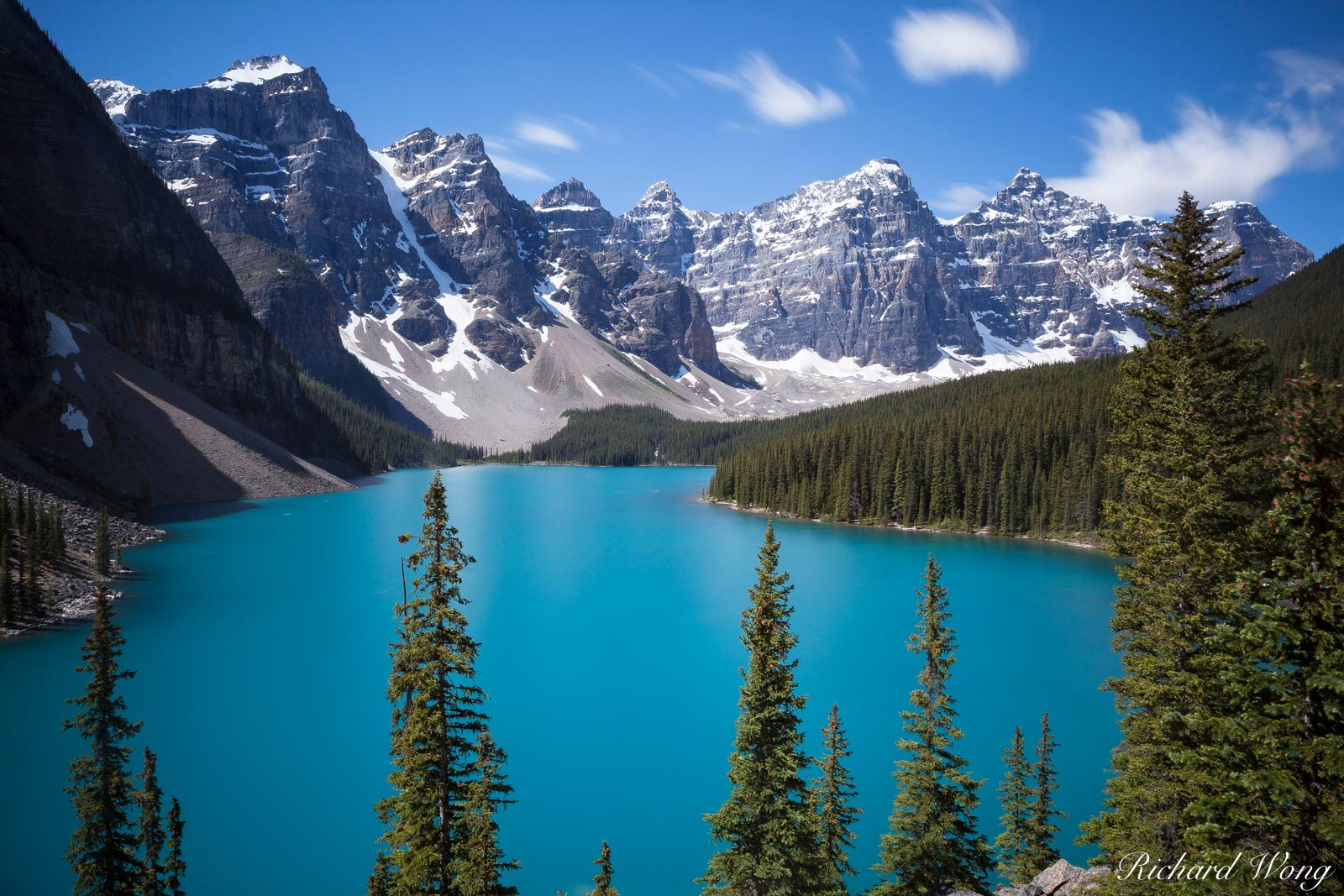 peter lik lake moraine style photo, valley of ten peaks, banff national park, alberta, canada, photo