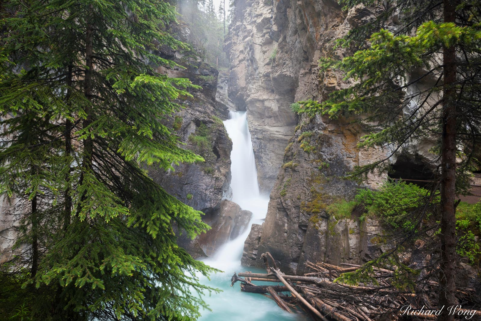 Lower Johnston Canyon Falls, Banff National Park, Alberta, Canada, photo, photo