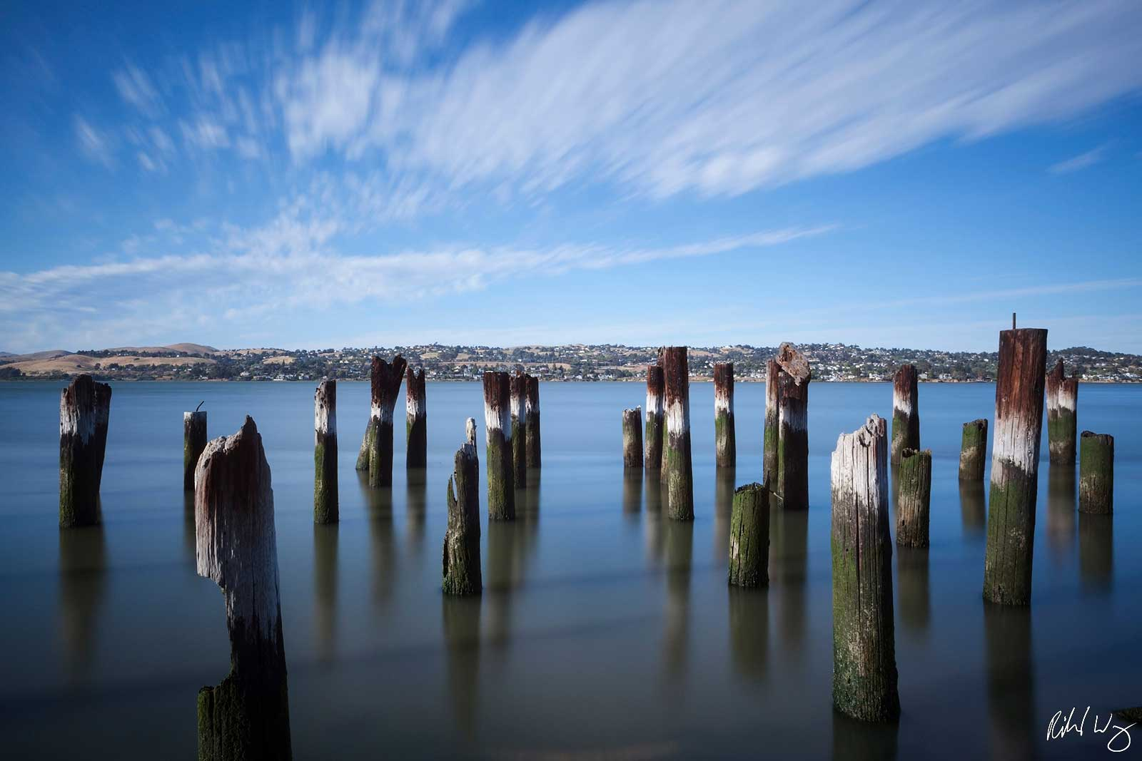 Port Costa Old Pier Pilings, Contra Costa County, California, Photo, photo