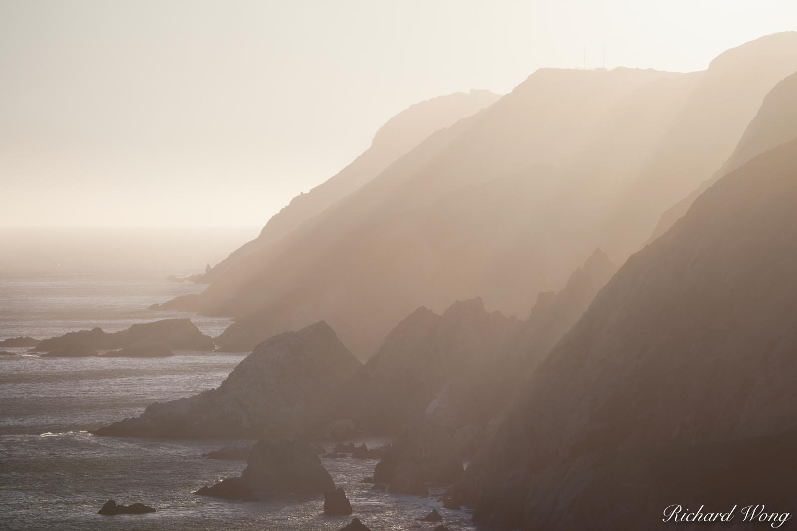 Coastal Cliffs at Sunset, Point Reyes National Seashore, California, photo, photo