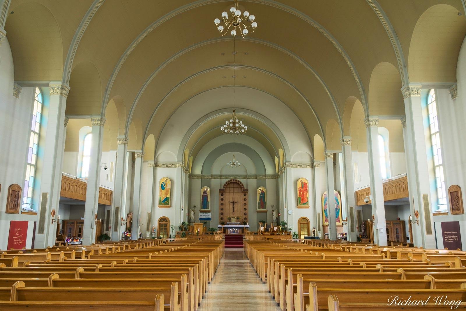 Baie-Saint-Paul Church Interior, Charlevoix, Quebec, Canada, photo, photo