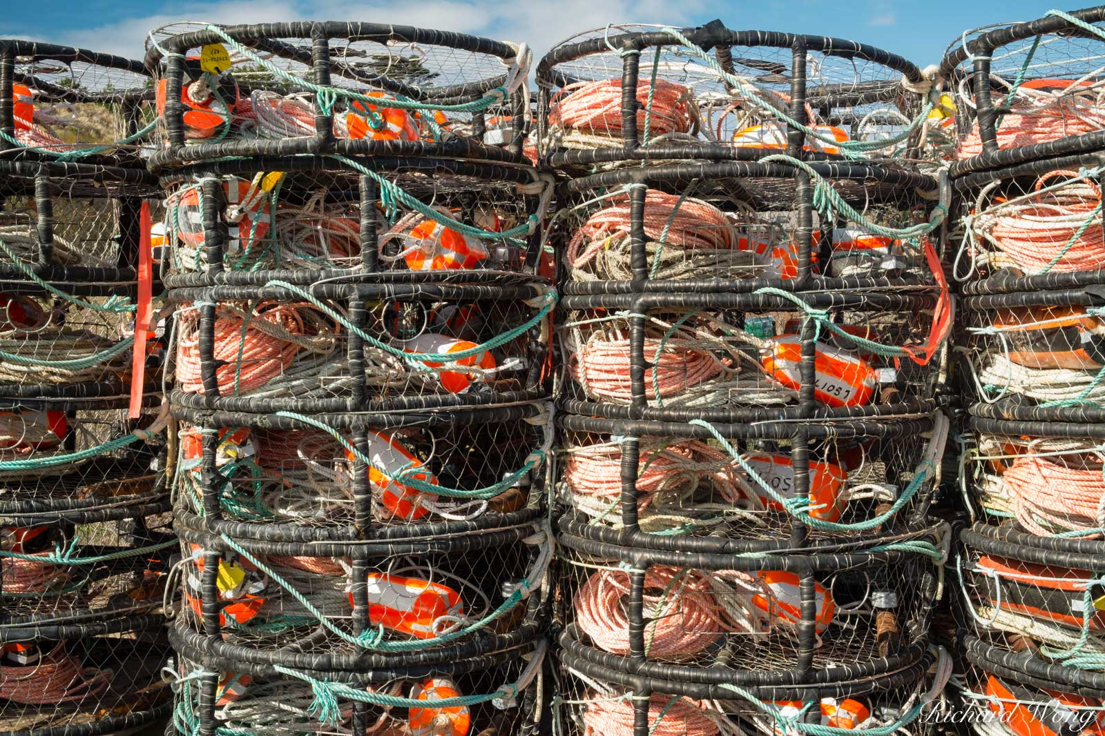 Crab Pot Traps, Bodega Bay, California, photo, photo