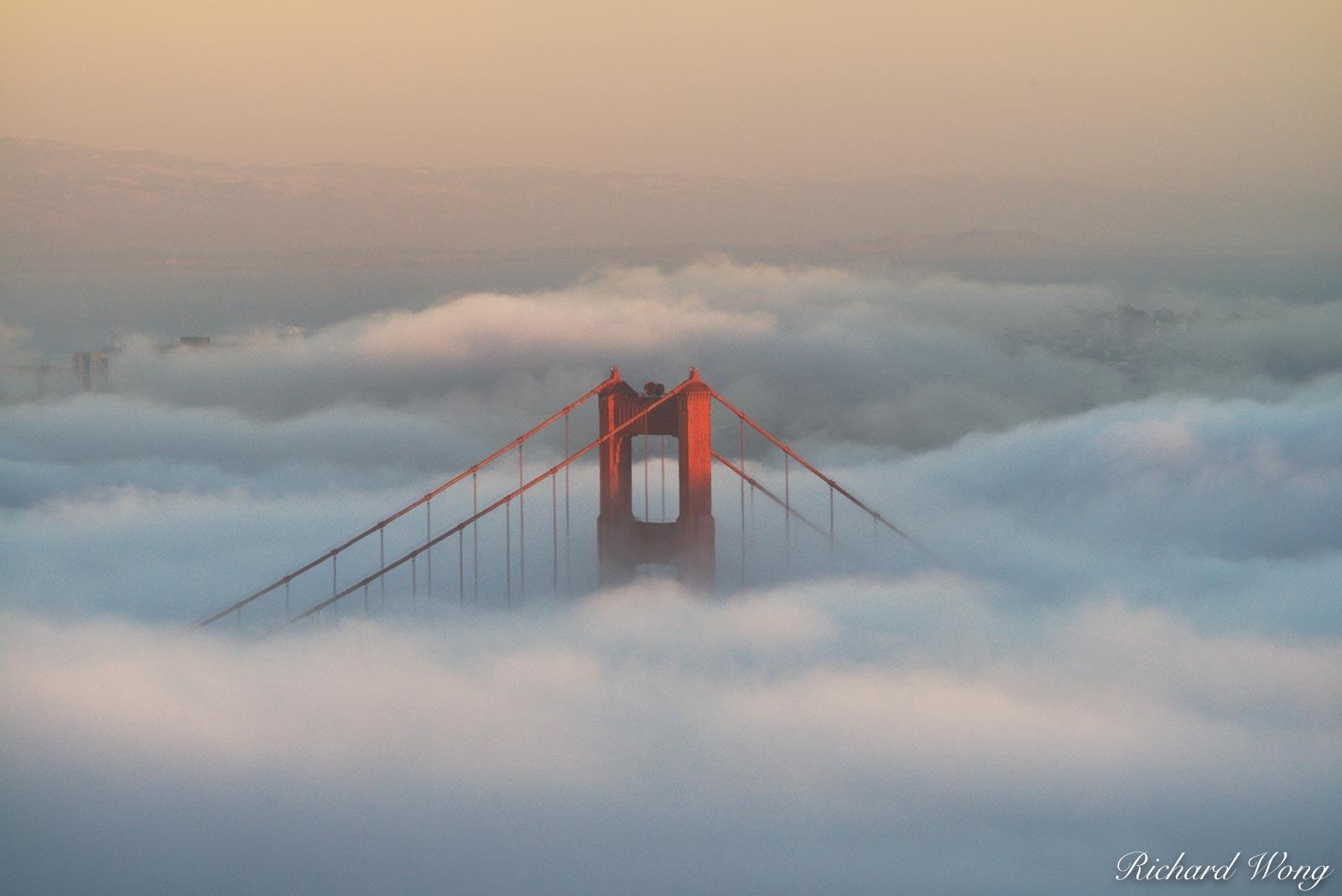 bridges, cloud, coast, foggy, ggnra, golden gate bridge, golden gate national recreation area, hawk hill, iconic landmarks, landmark, low clouds, marin county, marin headlands, northern california, sa, photo