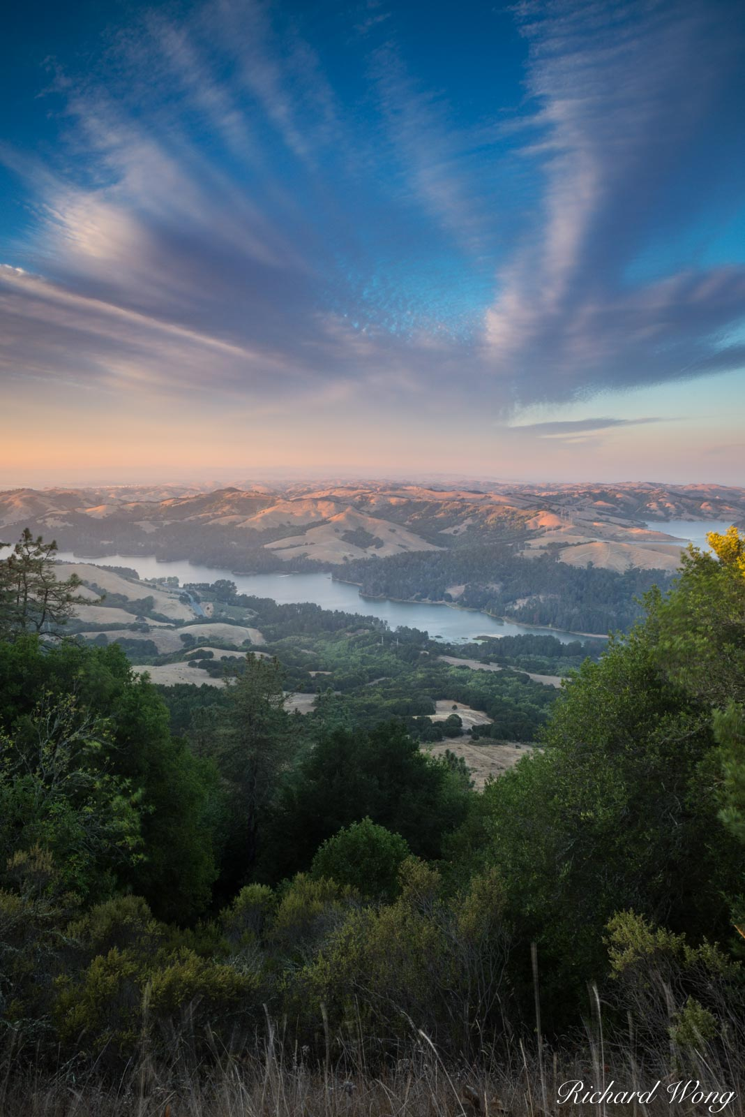 San Pablo Reservoir Overlook from Tilden Regional Park, Berkeley Hills, California, photo, photo