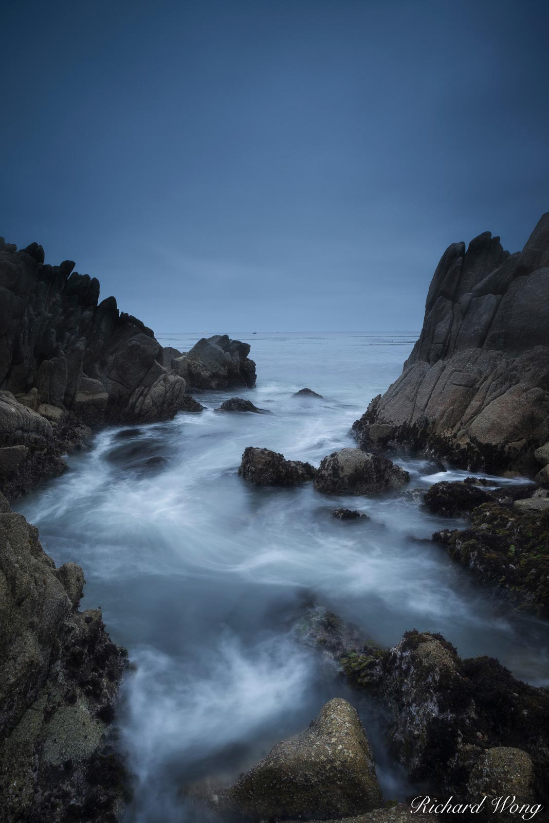 Tide Pool at Dawn, Pacific Grove, California, photo, photo