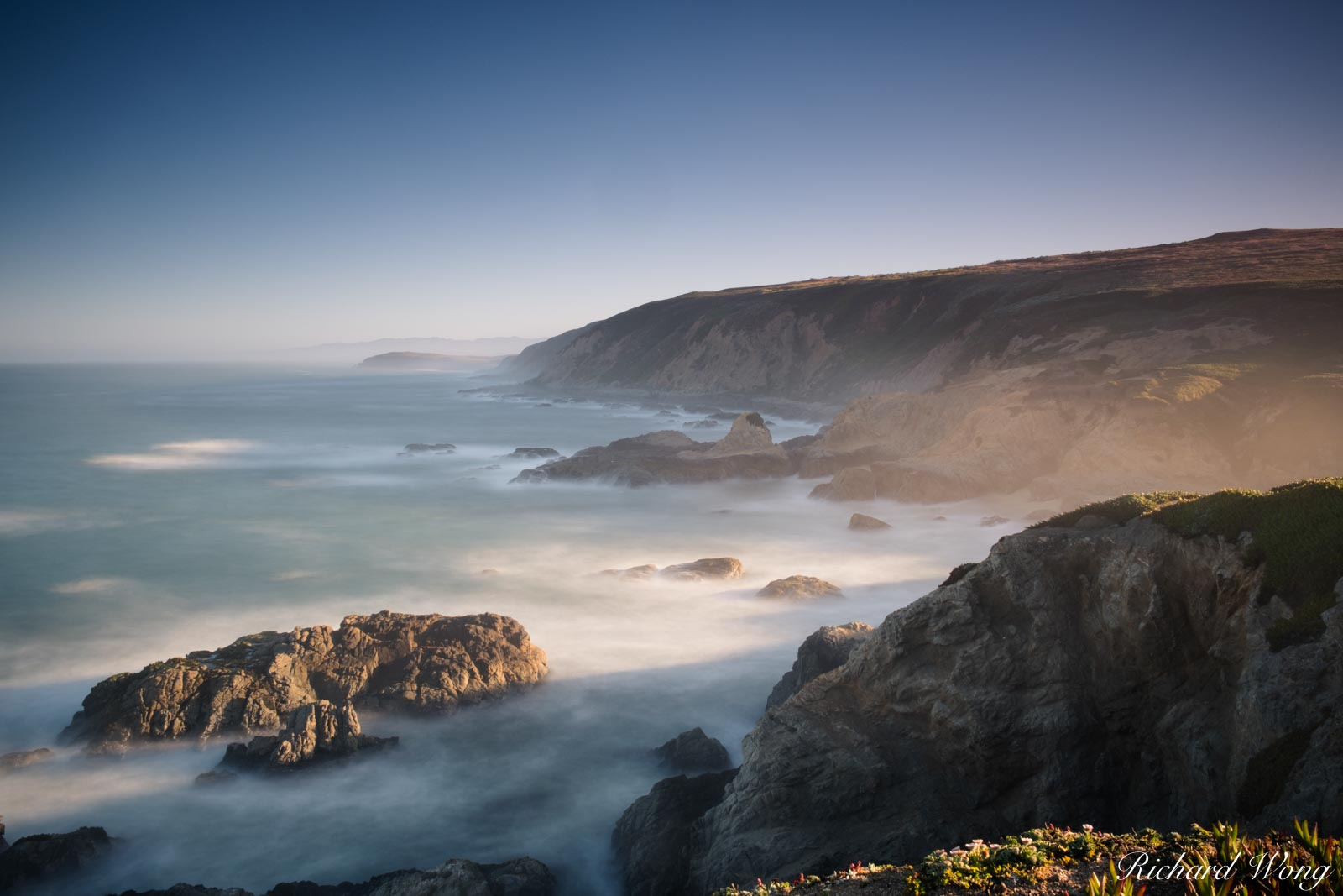 Bodega Head Long Exposure at Sunrise, Sonoma Coast, California, photo, photo