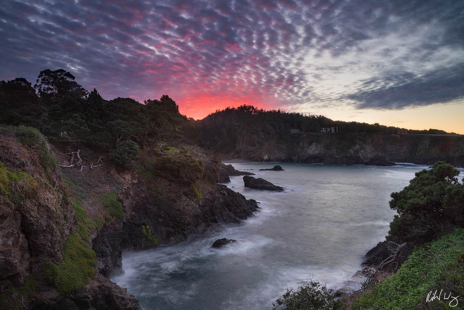 Mendocino County Coast Sunrise, Little River, California, photo, photo