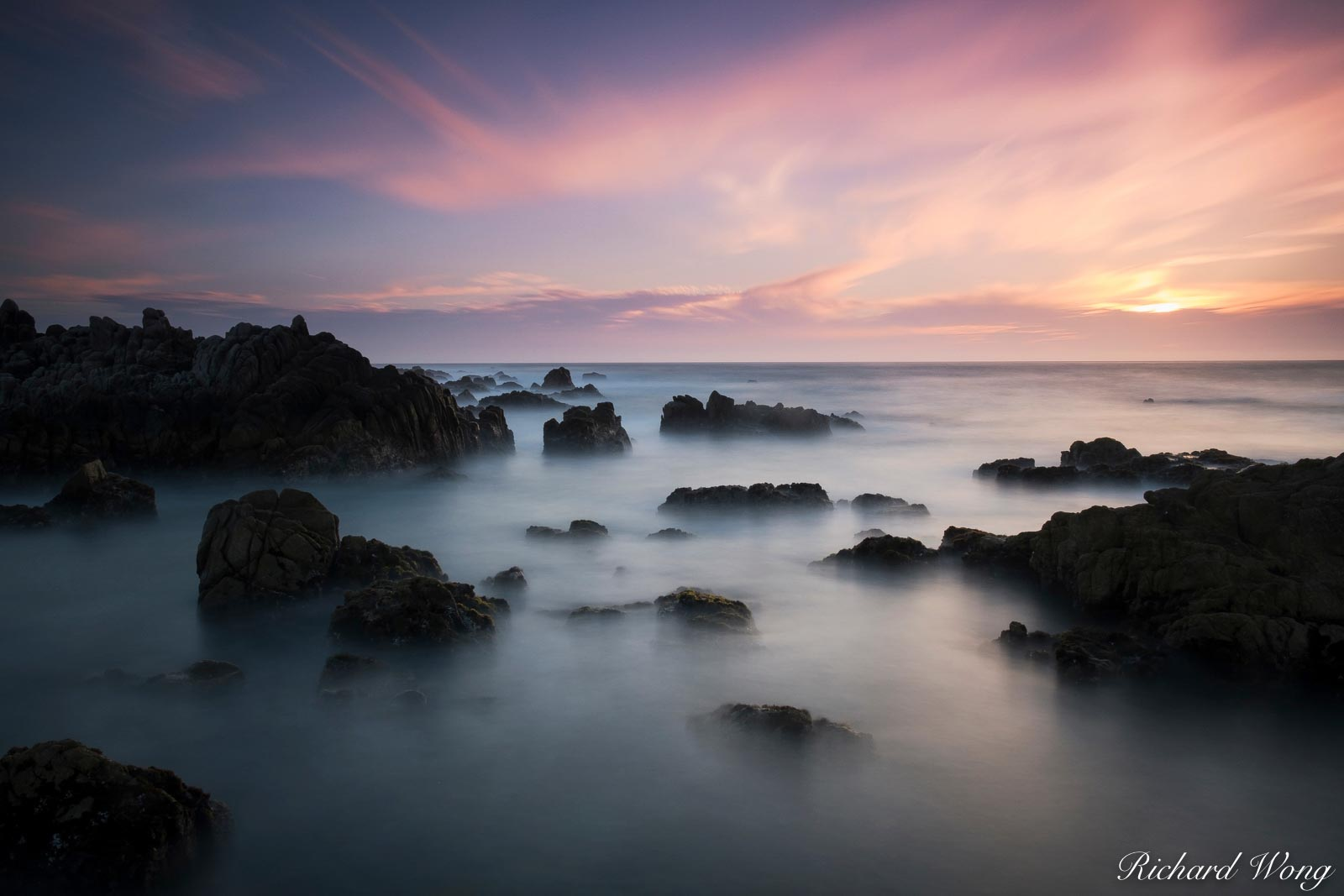 Pacific Grove Marine Gardens Park at Sunset, California, photo, photo