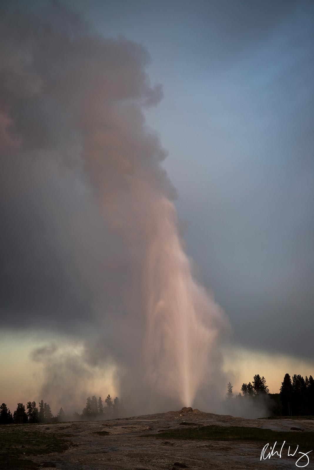 old faithful, yellowstone national park, wyoming, geysers, photo, photo