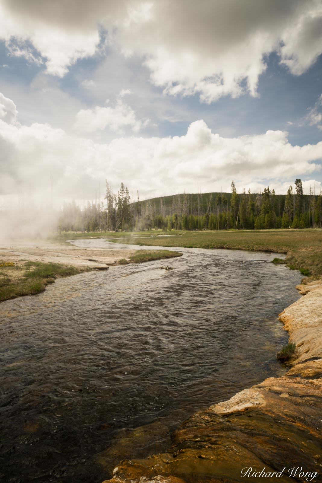 Iron Spring Creek at Black Sand Basin, Yellowstone National Park, Wyoming As an artist I'm always drive to S-curves as this is...