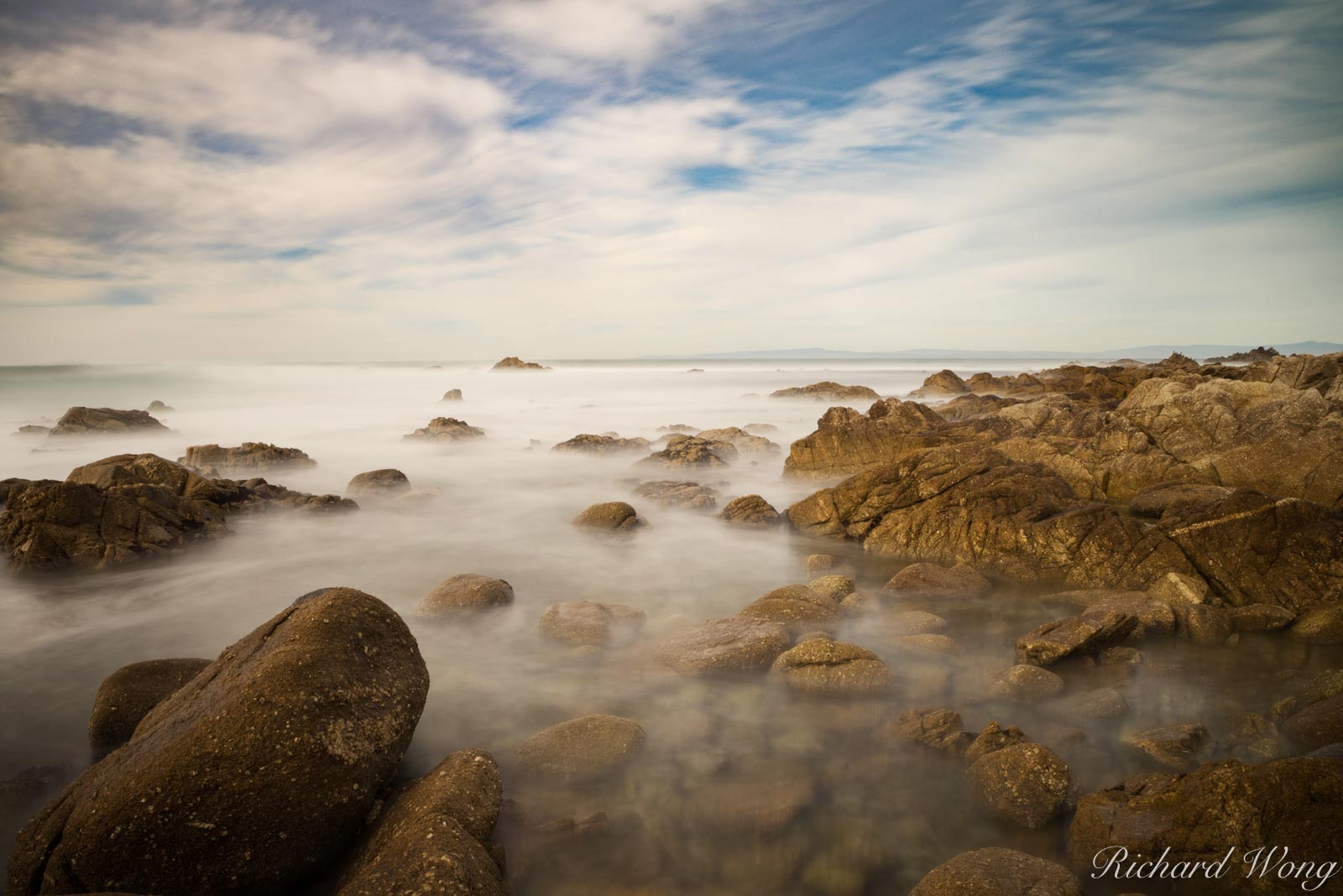 17 Mile Drive Seascape Long Exposure, Pebble Beach, California, photo, photo