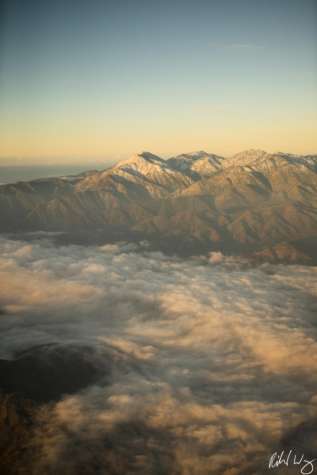 Morning Marine Layer, San Gabriel Mountains, Angeles National Forest, California Photo, photo