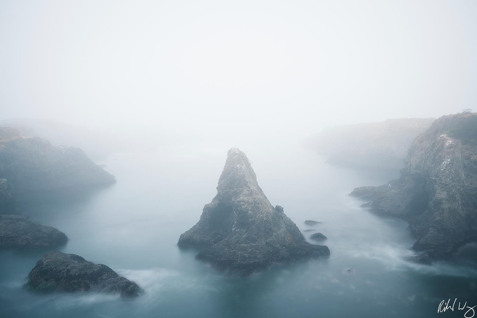 Foggy Morning, Mendocino Headlands State Park, California, Photo, photo