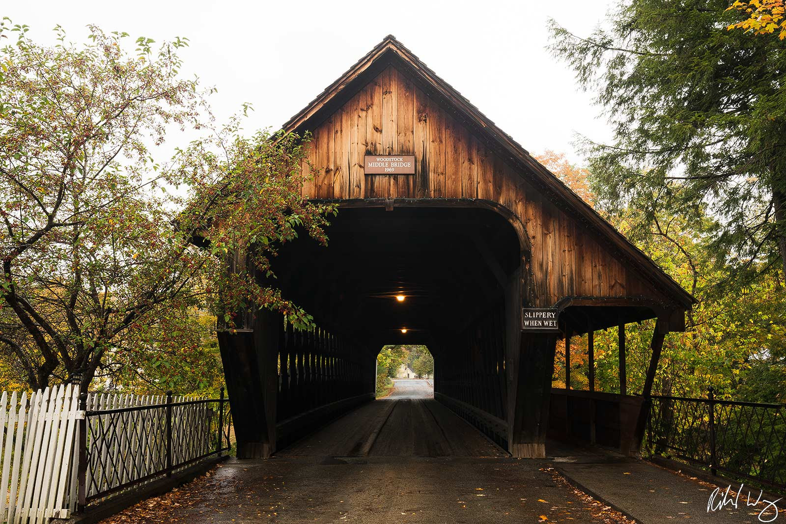 Woodstock Middle Bridge, Woodstock, Vermont, Photo, photo
