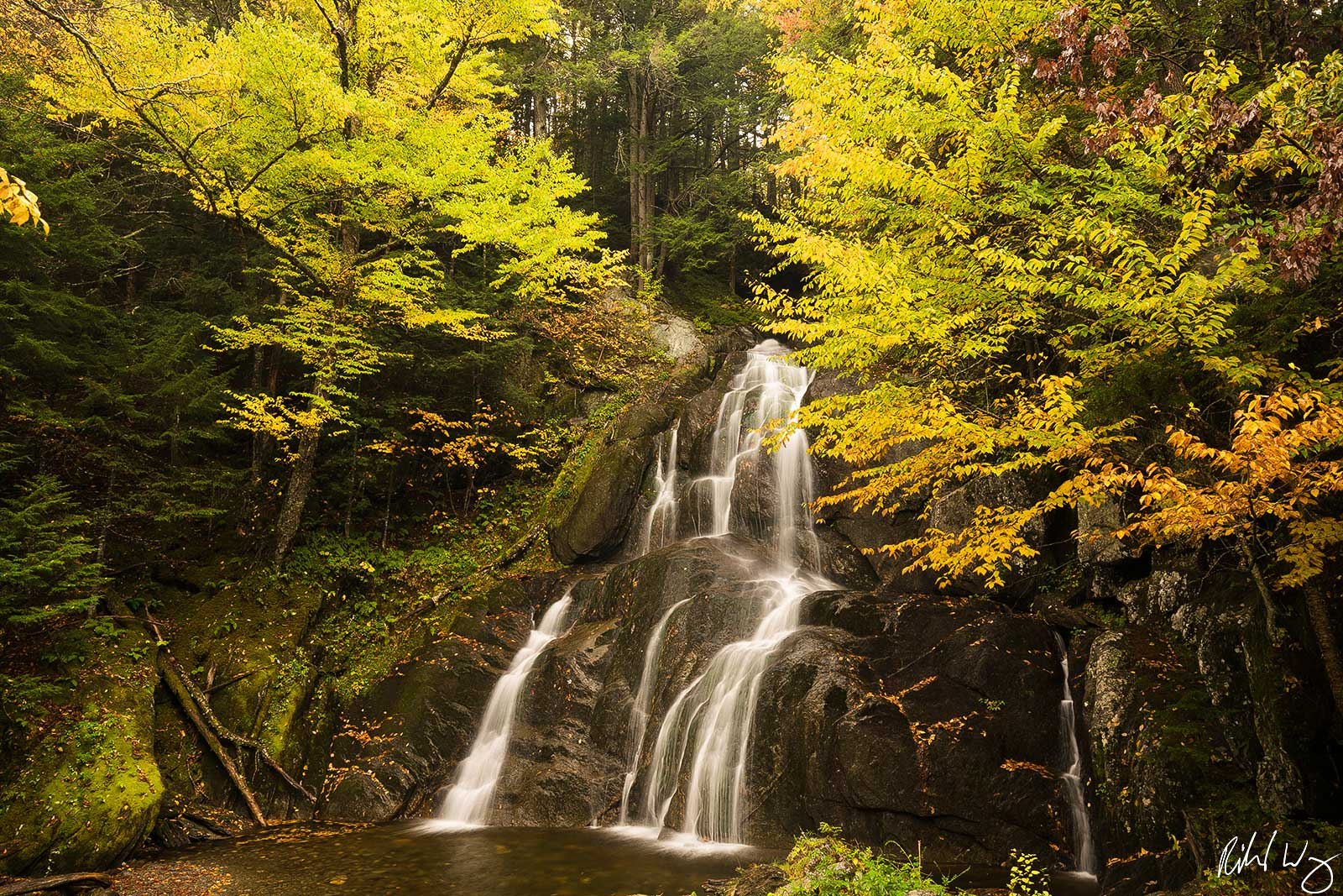 Moss Glen Falls, Green Mountain National Forest, Granville, Vermont, Photo, photo