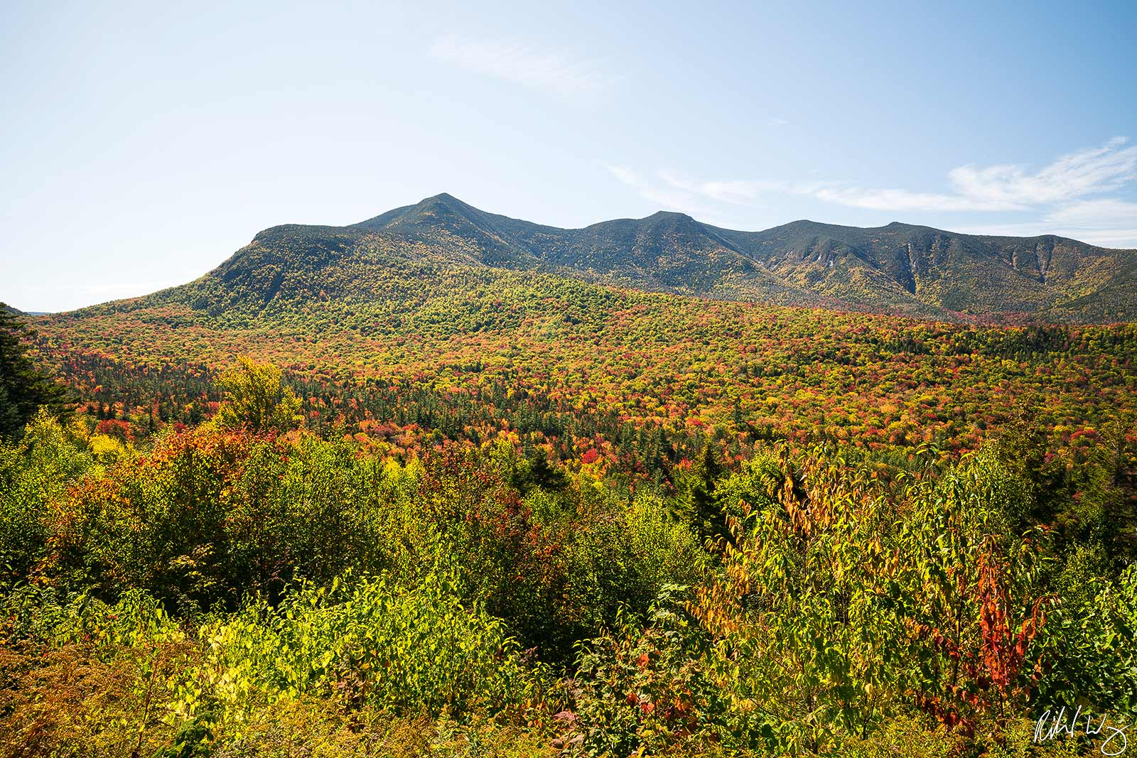 Kancagamus Highway Fall Color, White Mountain National Forest, New Hampshire, Photo, photo
