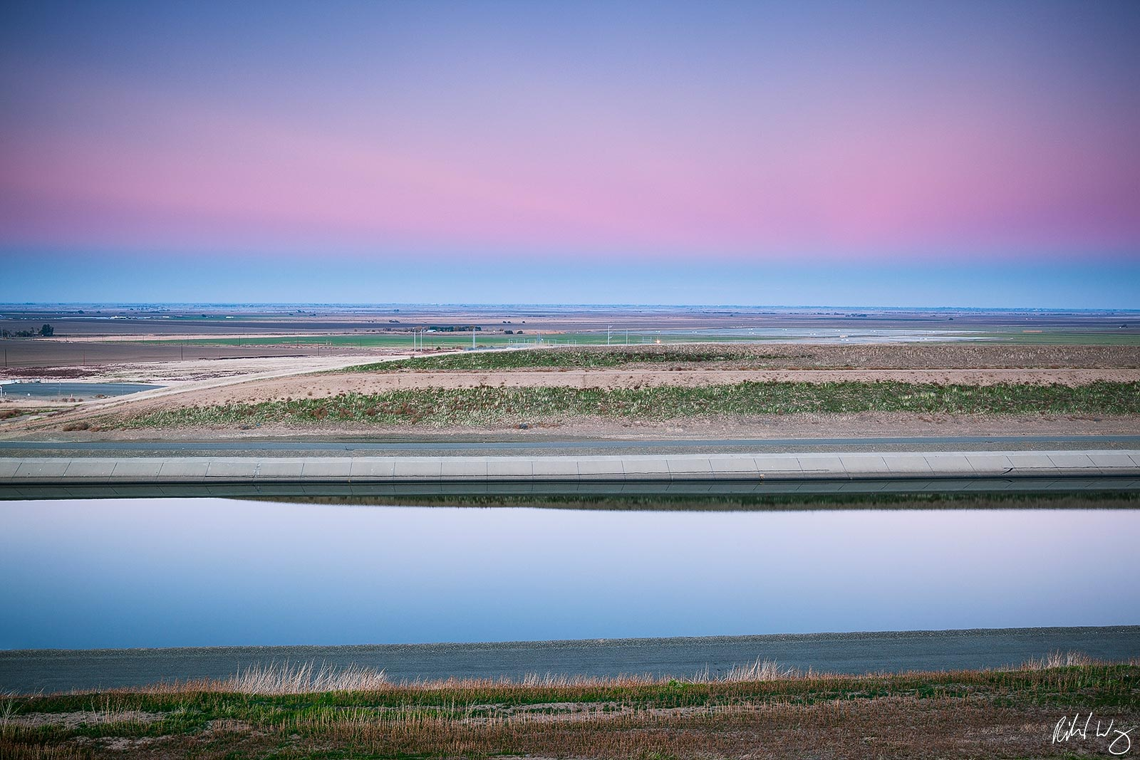 The California Aqueduct, San Joaquin Valley, California