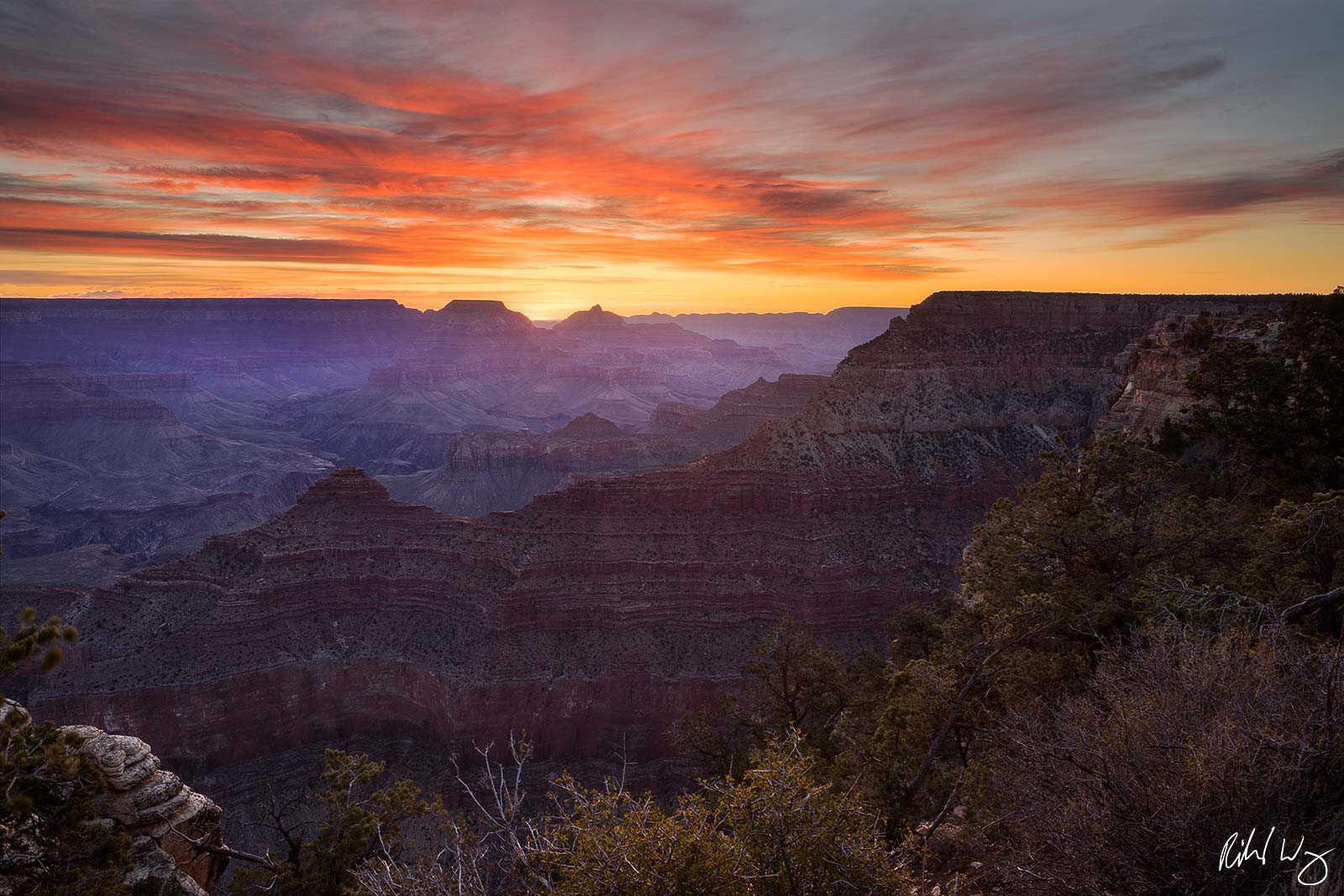Yavapai Point at Sunrise, Grand Canyon National Park Photo, photo