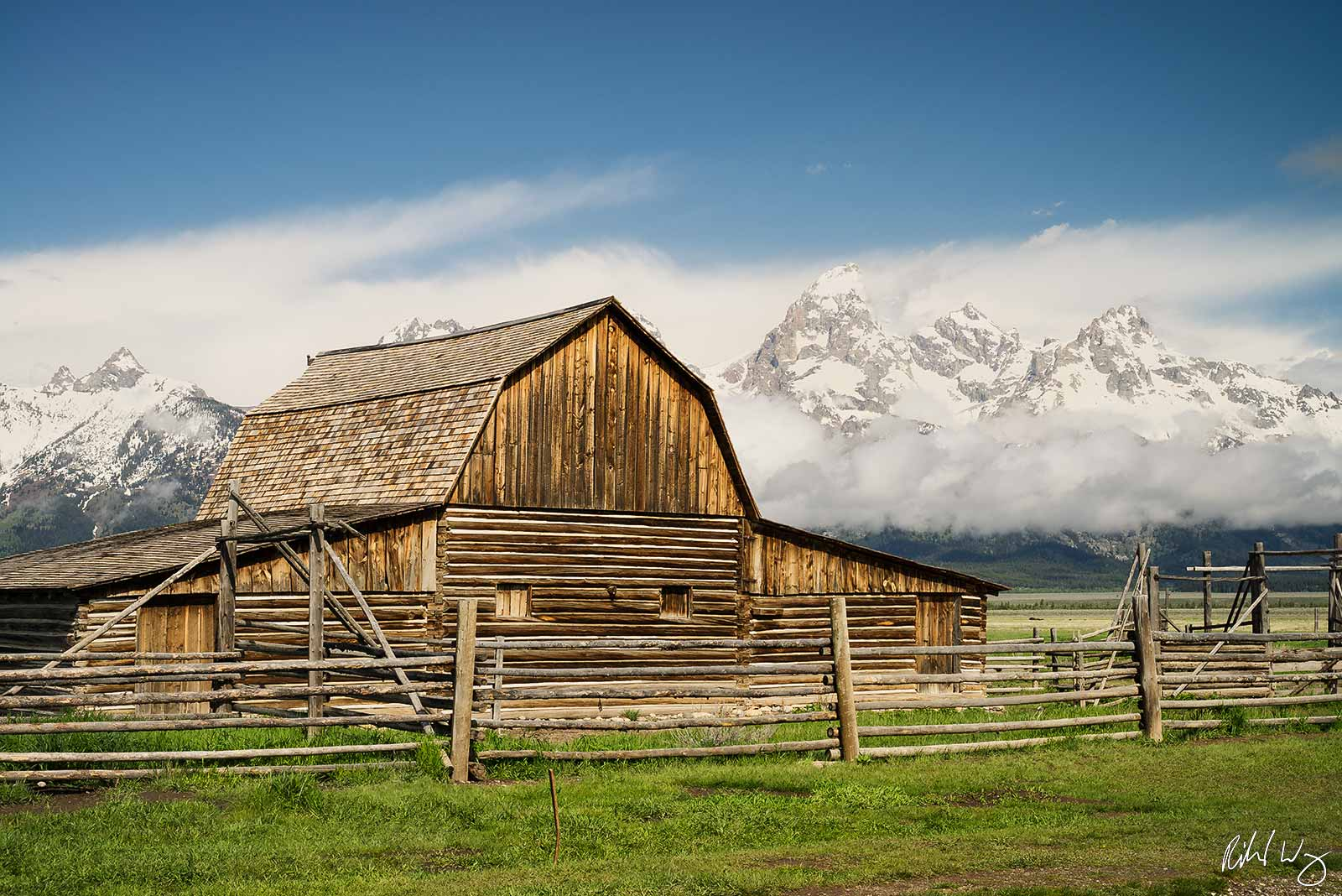 John Moulton Barn / Mormon Row, Grand Teton National Park, Wyoming, photo, photo