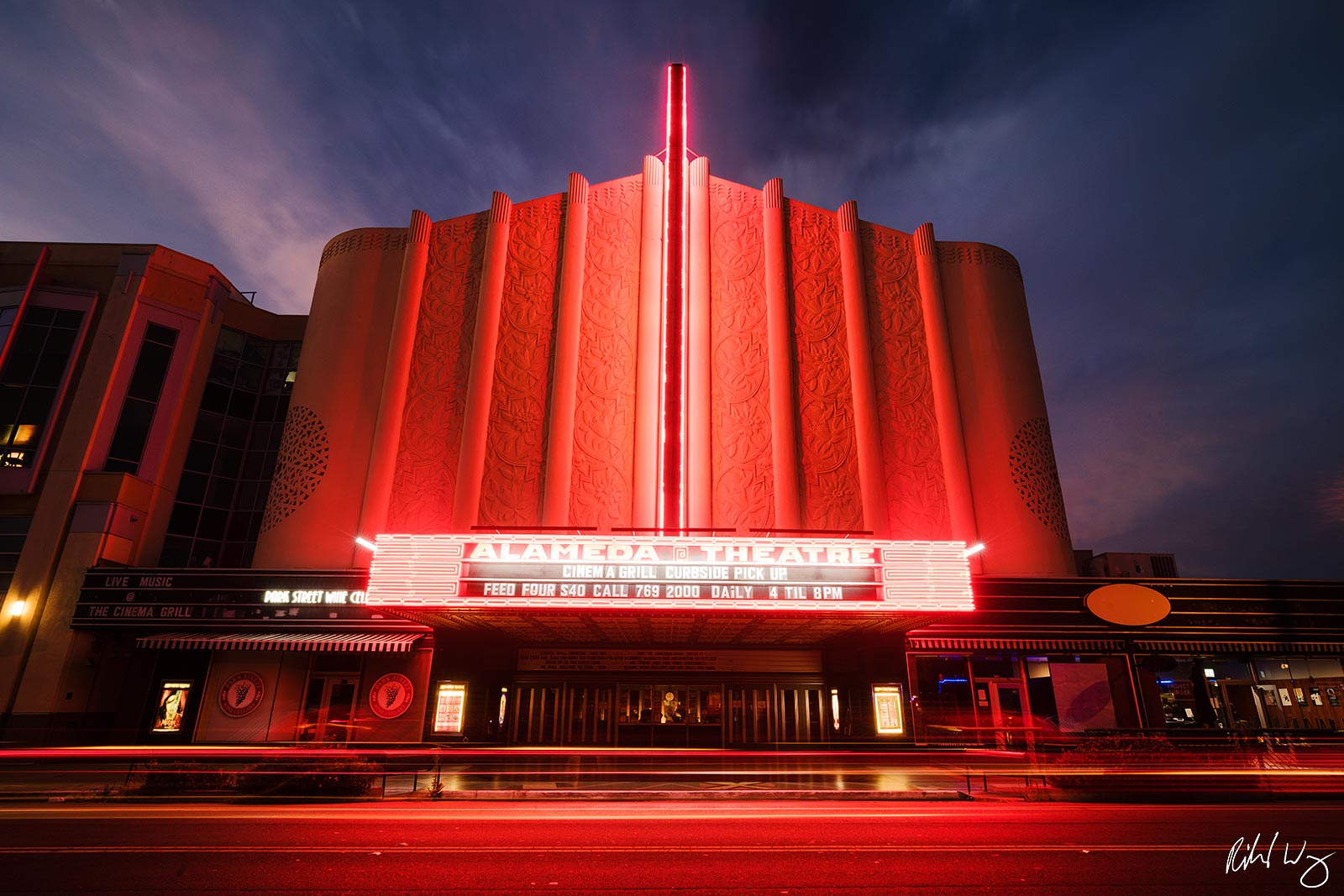 Historic Alameda Theatre at Night, Alameda, California, photo, photo