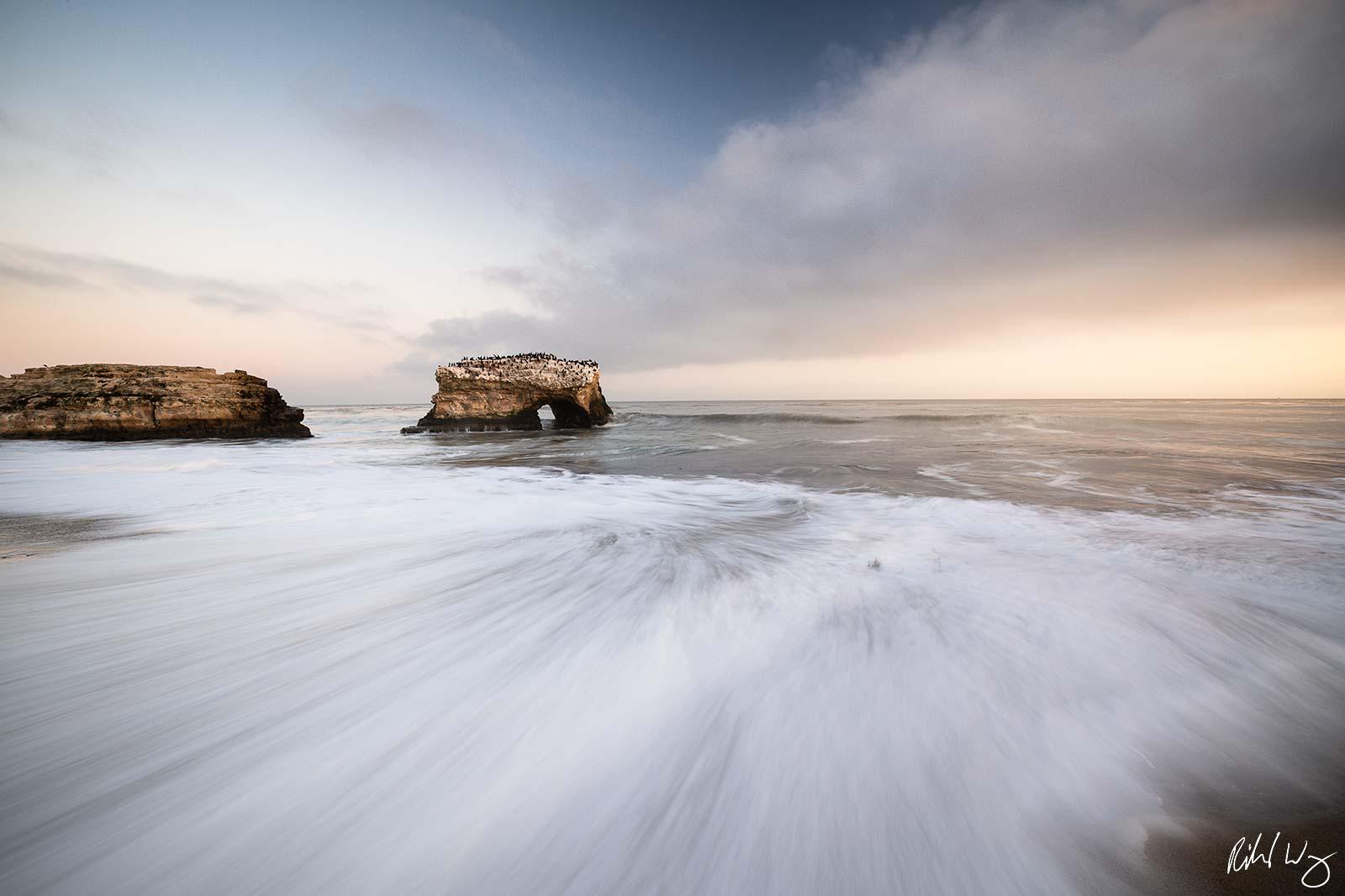 Sunset at Natural Bridges State Beach, Santa Cruz, California, photo
