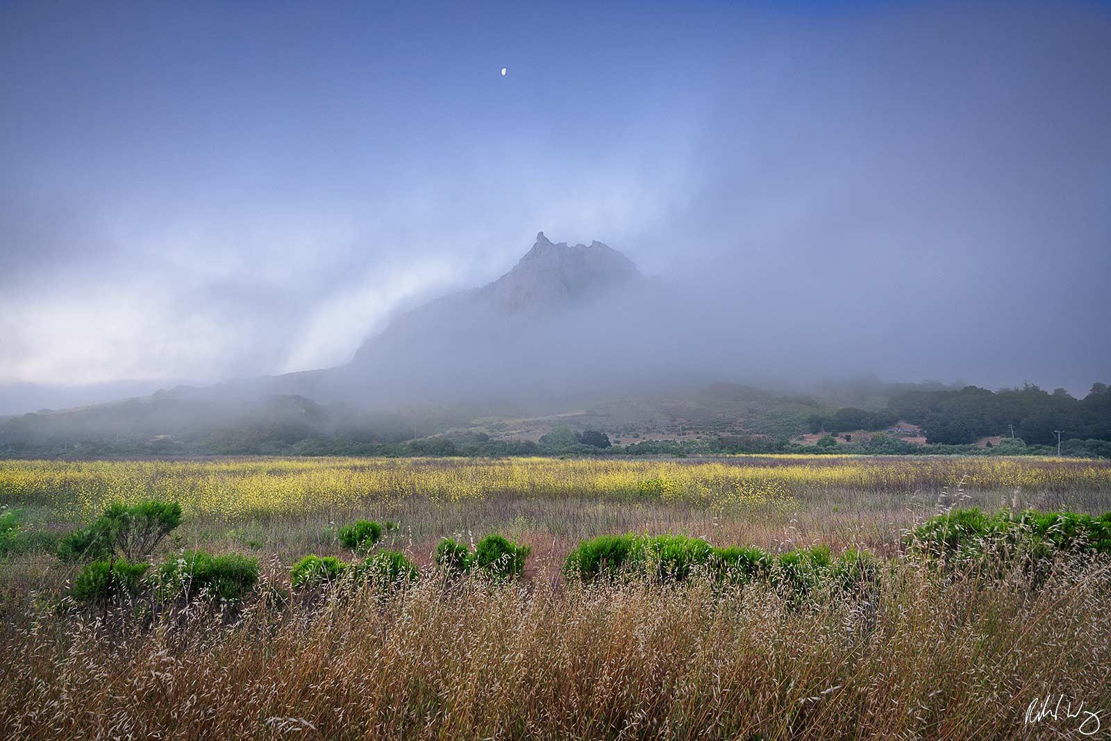 Hollister Peak at Dawn, Morro Bay, California