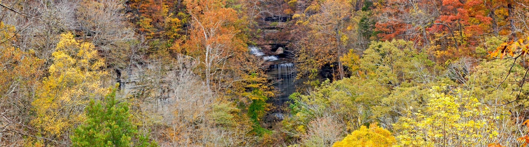 Big Clifty Falls and Fall Foliage, Clifty Falls State Park, Madison, Indiana, photo, photo