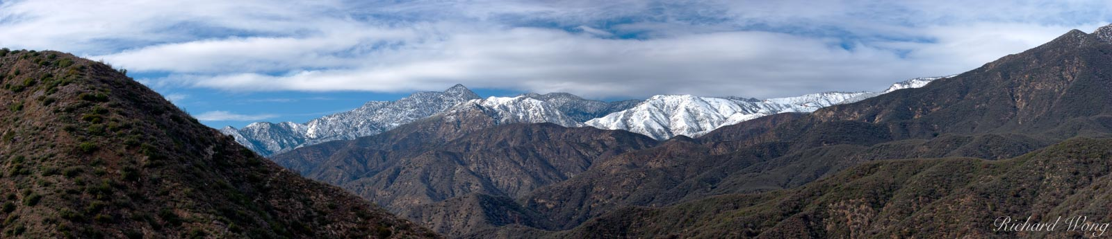 Snow-Capped San Gabriel Mountains, Angeles National Forest, California, photo, photo
