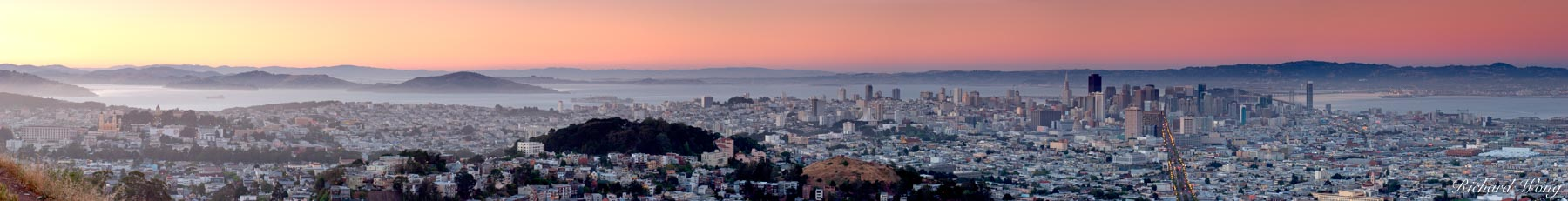 cities, city, landscape, landscapes, northern california, panorama, panoramas, panoramic, panoramics, san francisco, san francisco bay, sunset, travel, twin peaks, united states of america, usa, photo