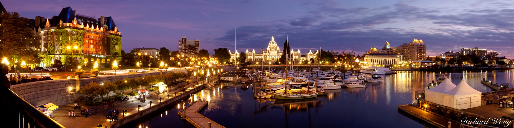 Panoramic of Victoria Inner Harbour, British Columbia, Canada, photo, photo